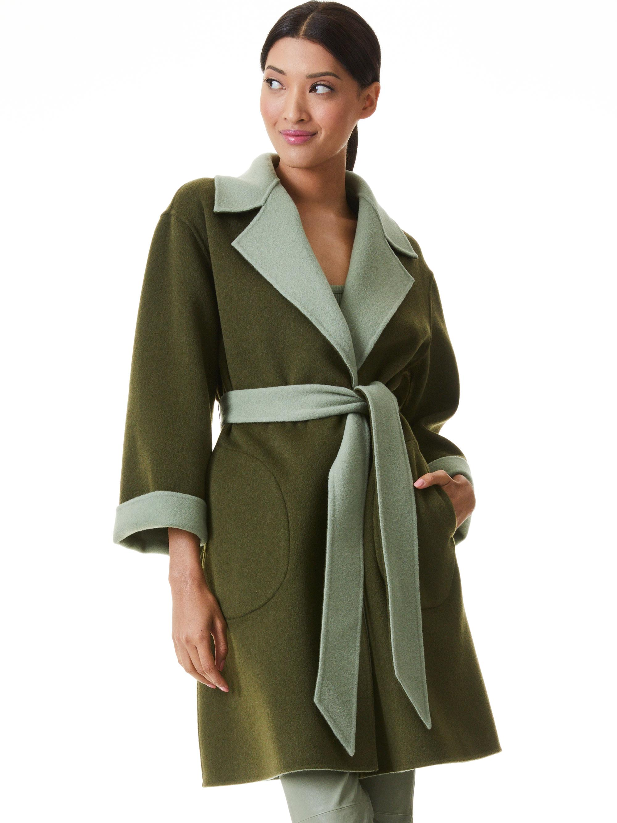 TOMIKO REVERSIBLE BELTED COAT