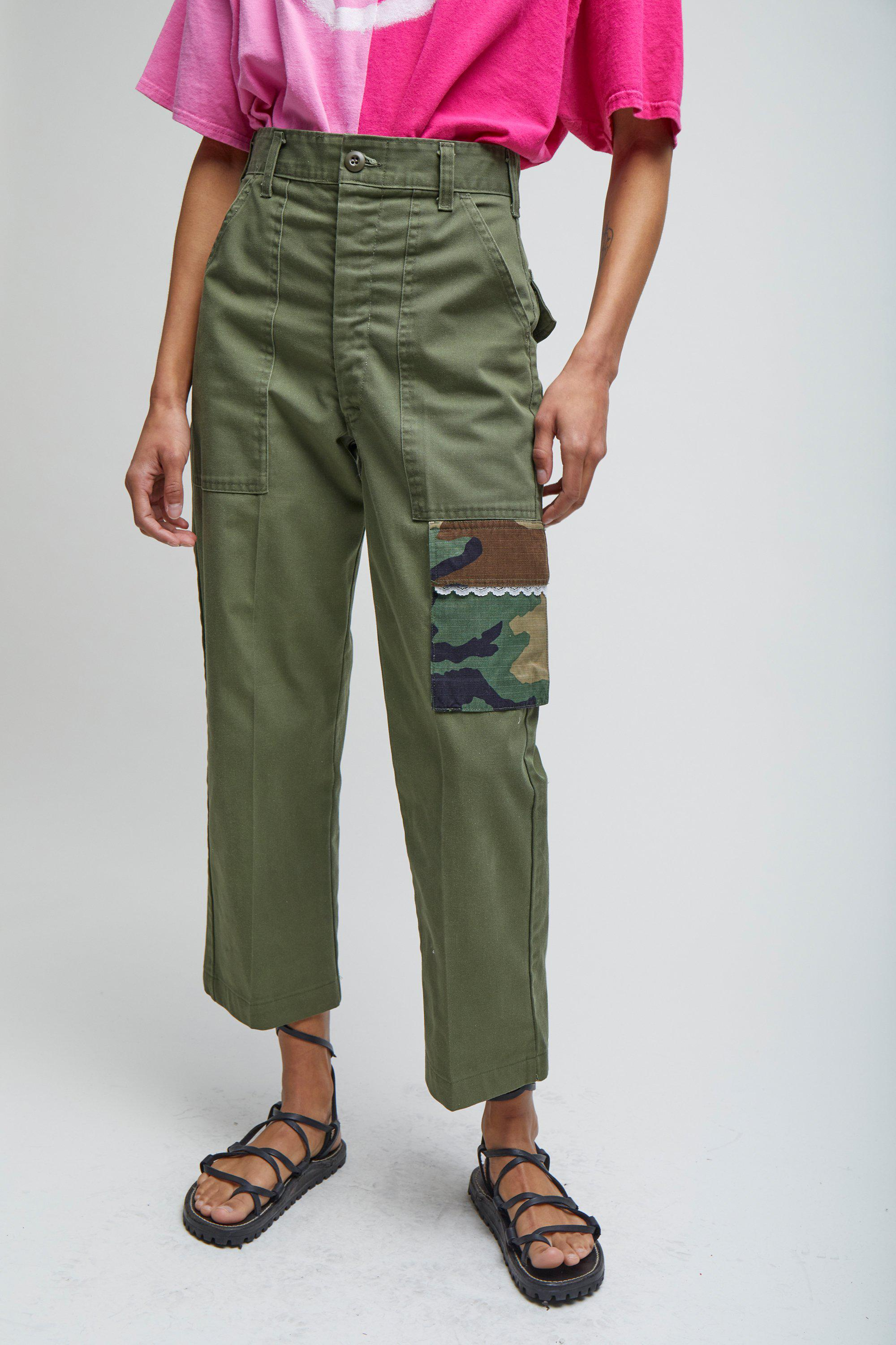 CROPPED CARGO TROUSERS - XS 1