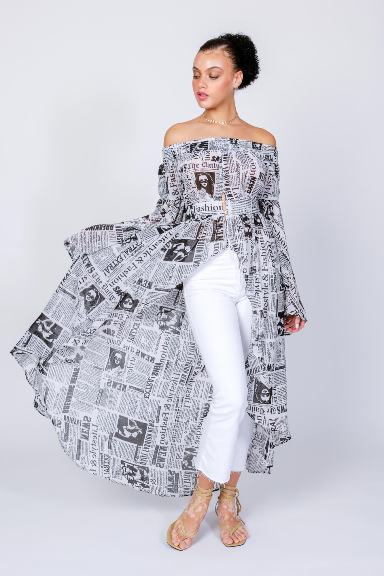 The Times Off The Shoulder Duster