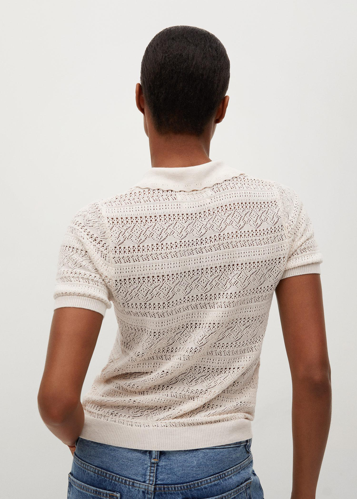 Openwork knit polo 2