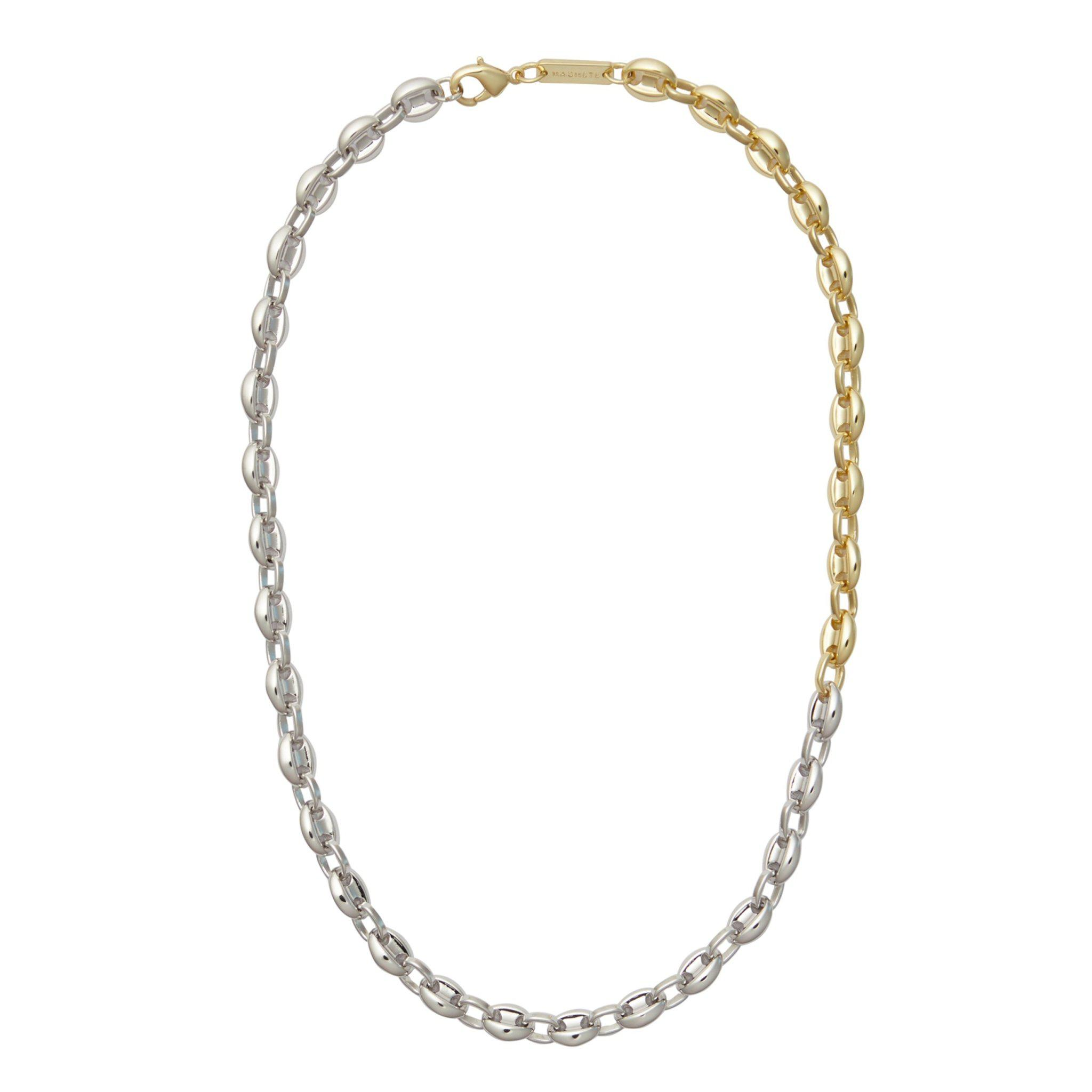 Petite Coffee Bead Necklace in 3/4 Silver