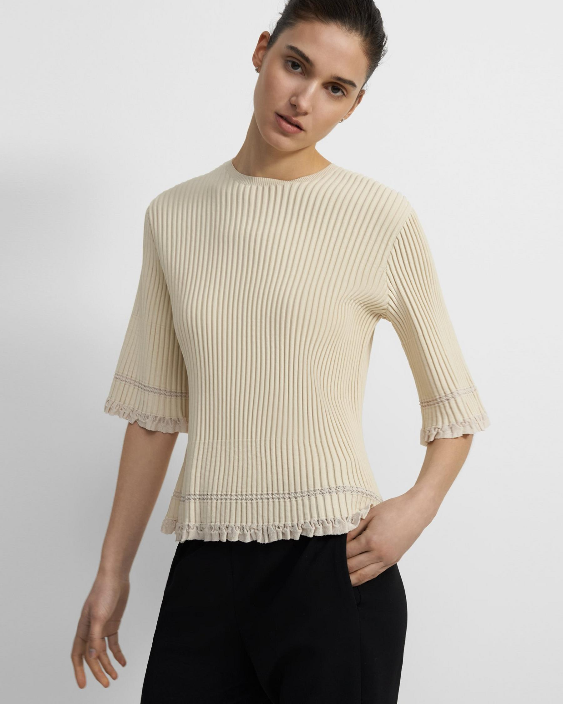 Ribbed T-Shirt in Eco Knit