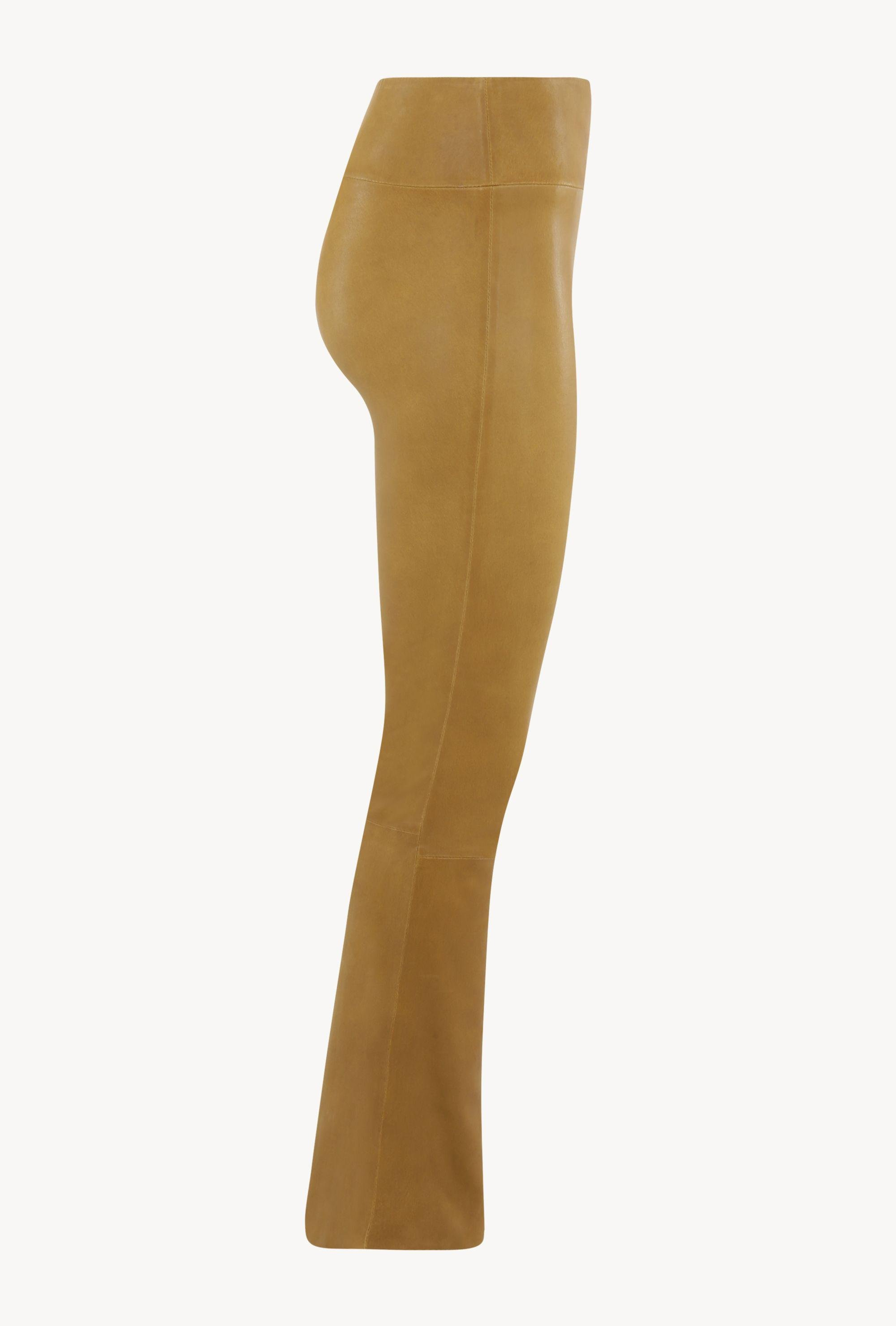 Moss Gold Leather Ankle Flare Legging 3