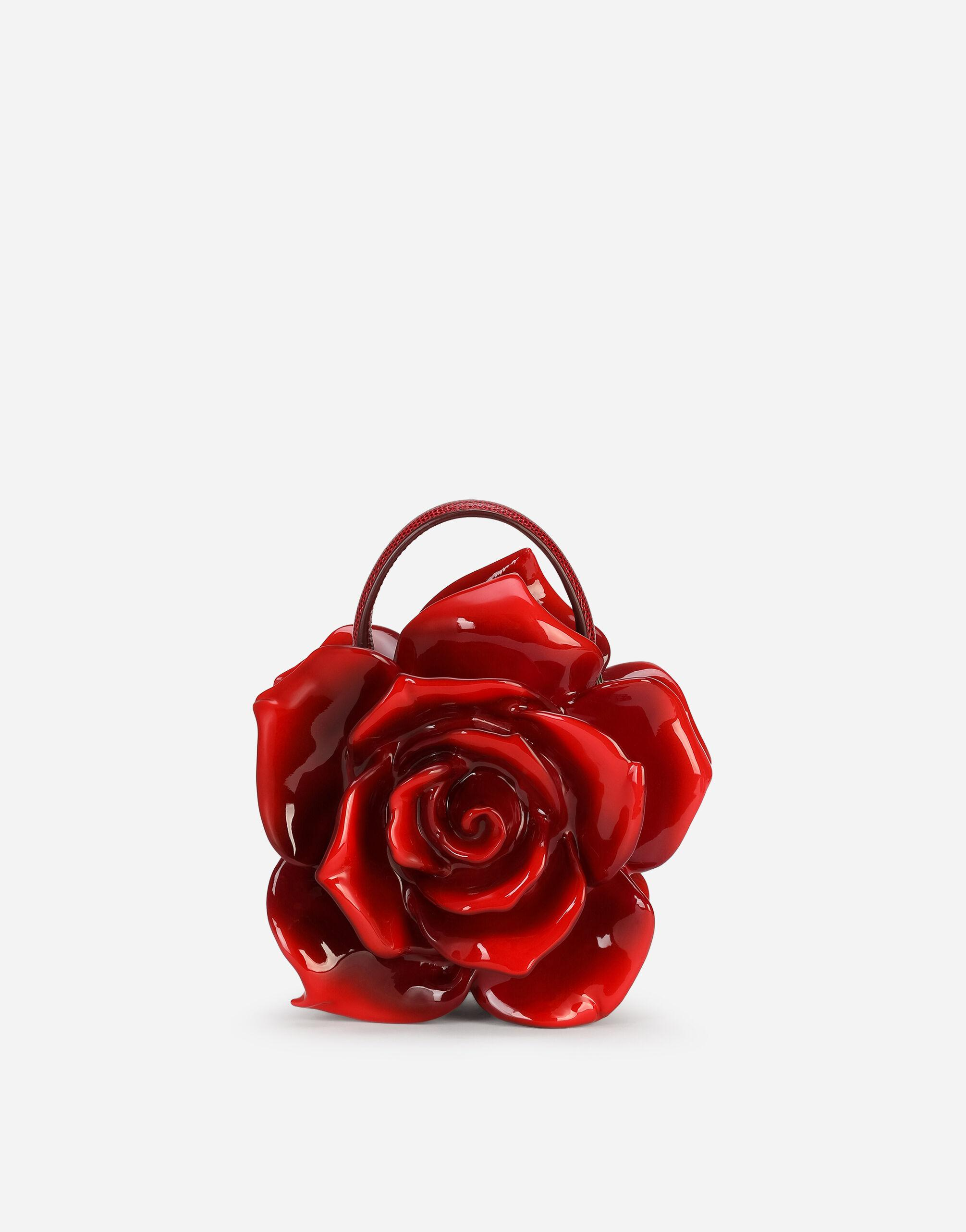 Rose Dolce Box bag in painted resin