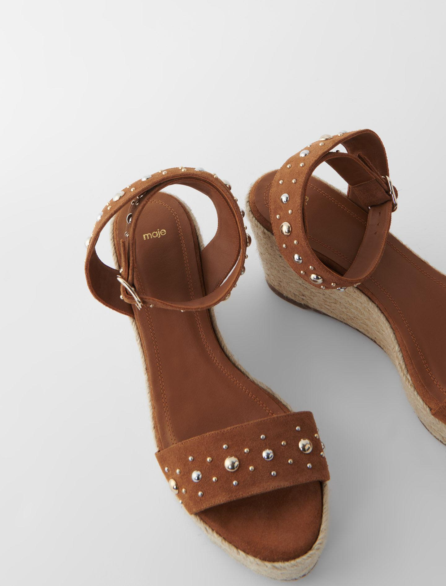WEDGE SANDALS WITH SUEDE STRAPS 4