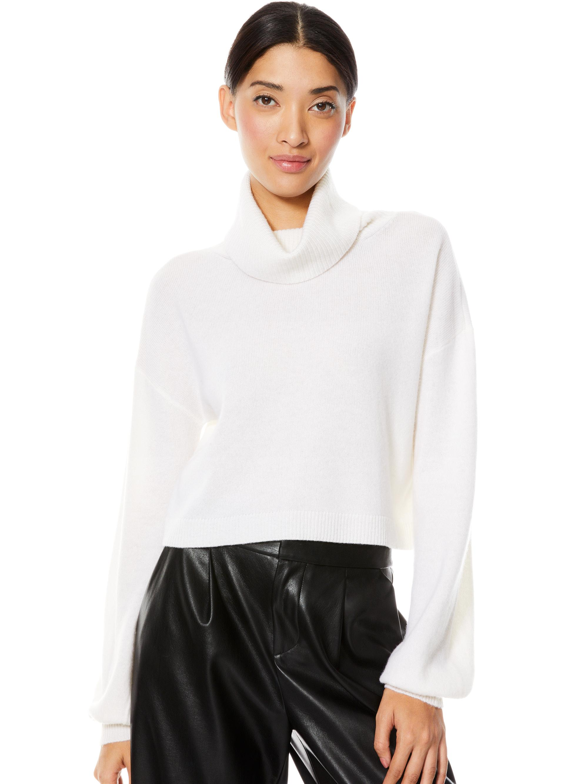 ANSLEY TURTLENECK CROPPED SWEATER