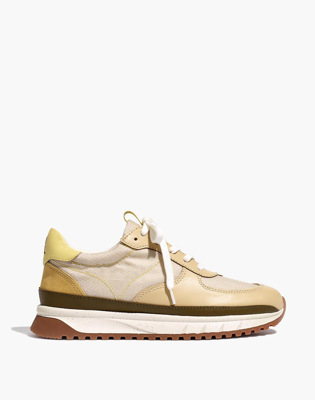 Kickoff Trainer Sneakers in Ripstop Nylon and Leather 1