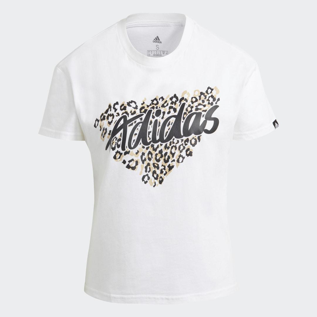 Leopard Graphic Tee White 6