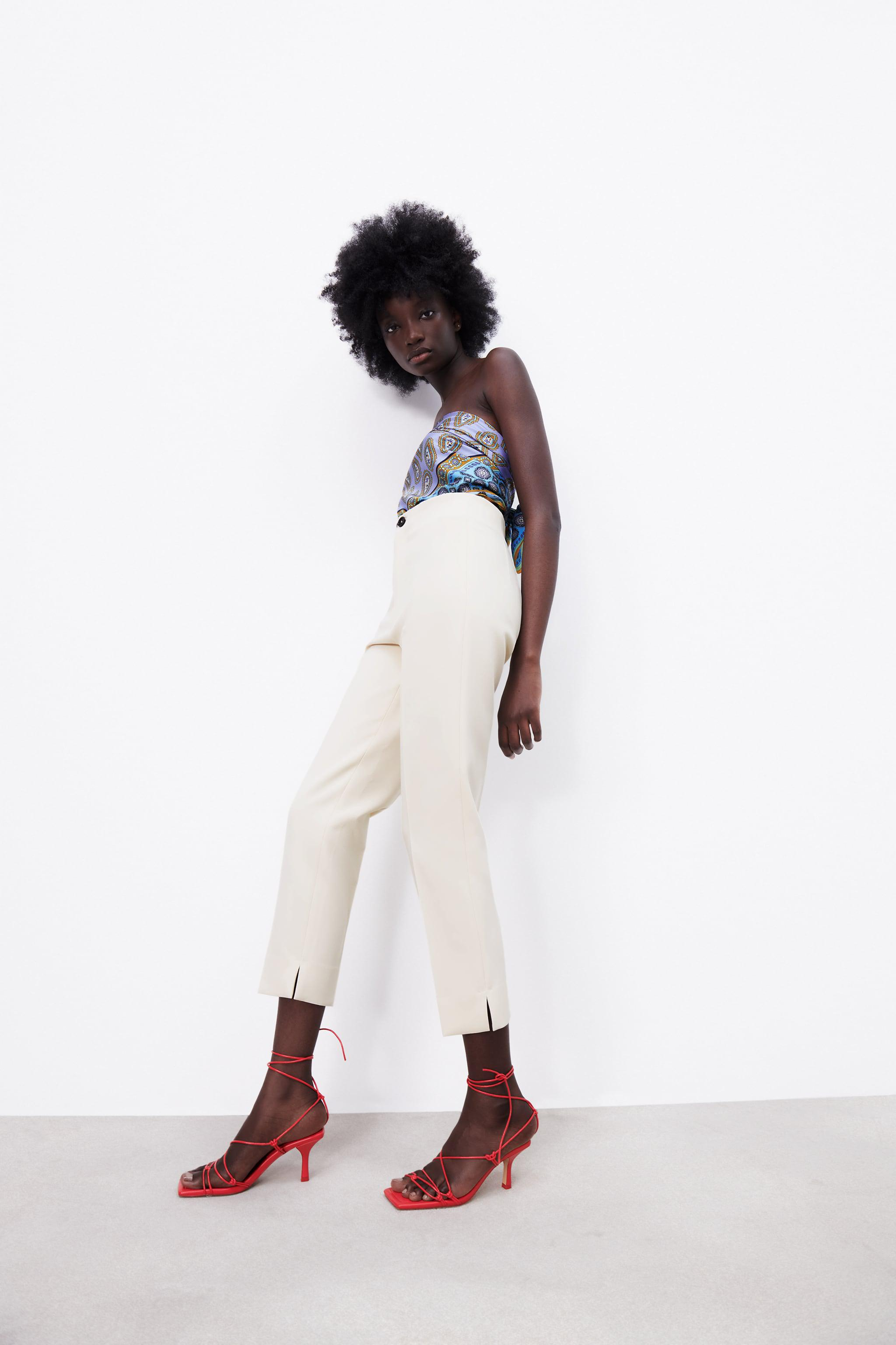 HIGH-WAISTED PANTS WITH VENTS 7