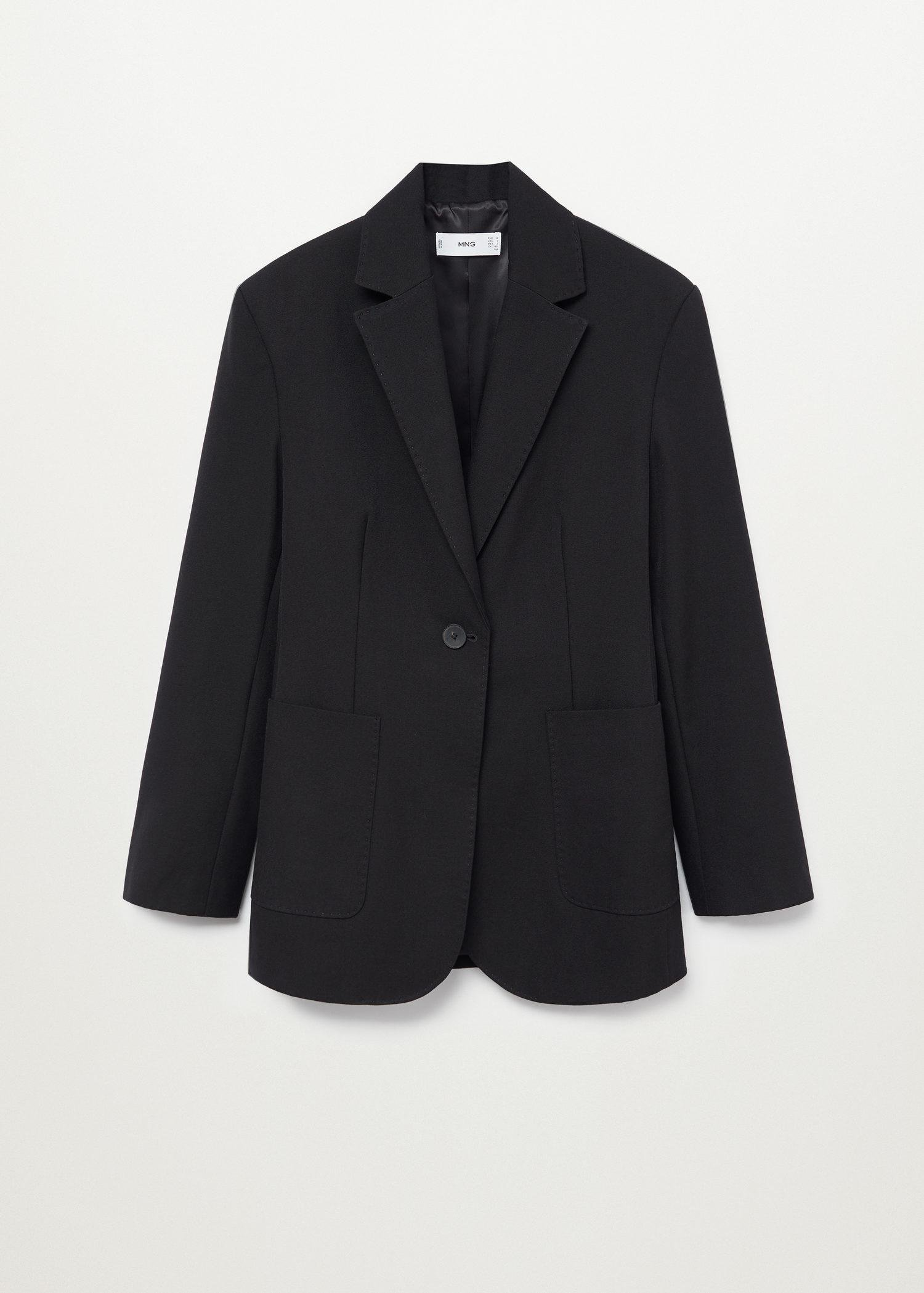 Fitted blazer with pocket 8