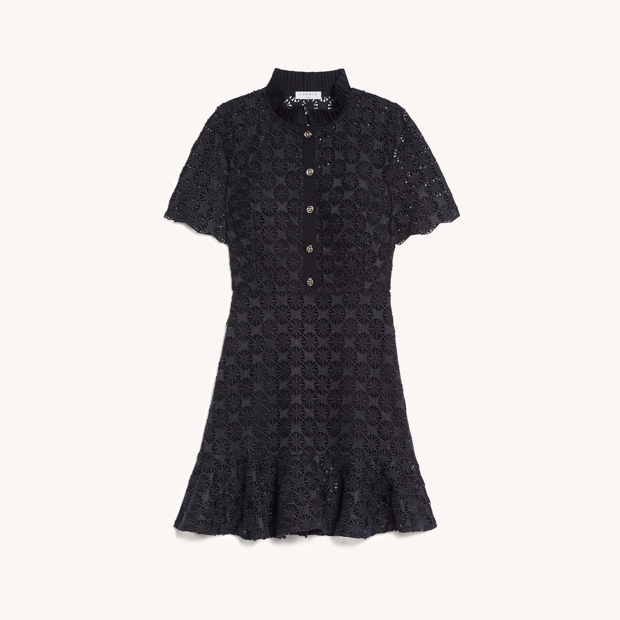 Short-sleeved lace dress
