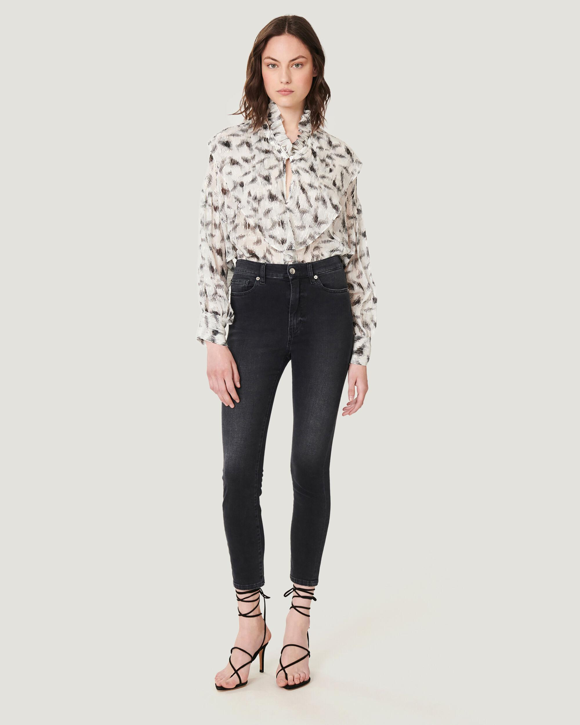 ALLONE SKINNY HIGH WAIST WASHED JEANS