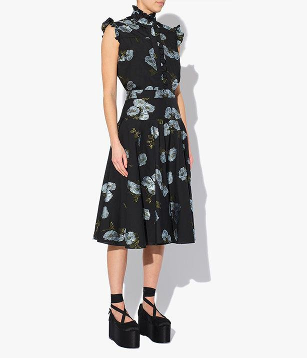 Starla Skirt Floral Cotton Fil Coupe