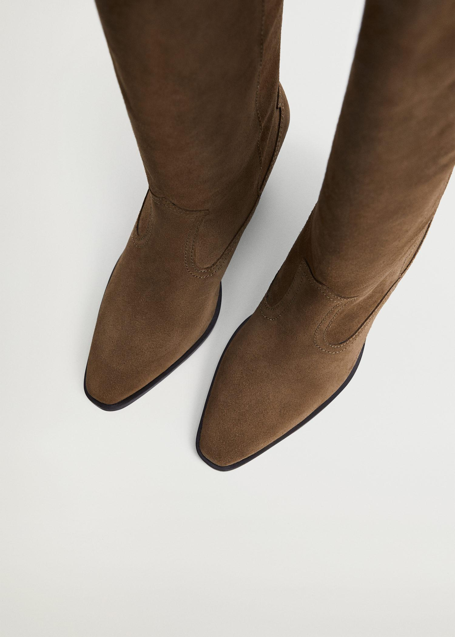 Leather boots with tall leg 5