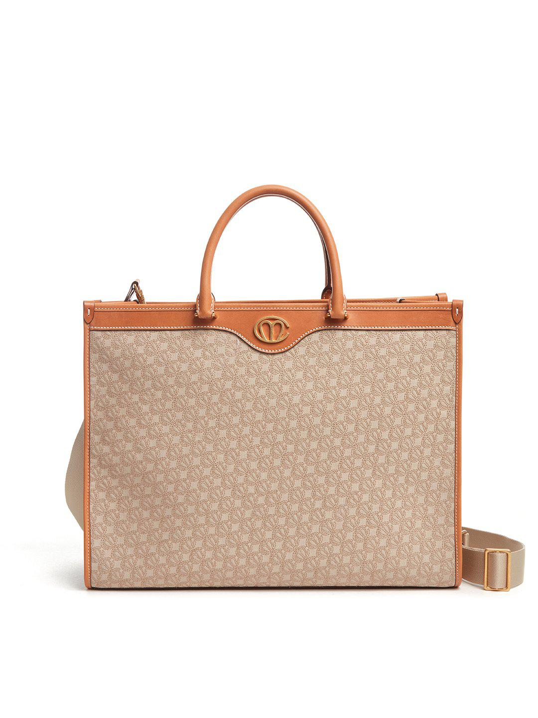 Christy East West MC Knot & Leather Tote Bag
