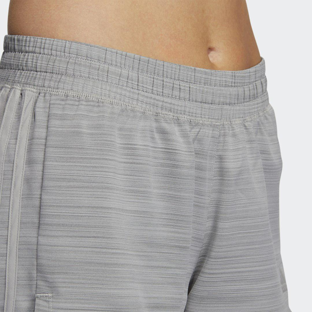 Pacer 3-Stripes Woven Heather Shorts Mgh Solid Grey XL - Womens Training Shorts 4