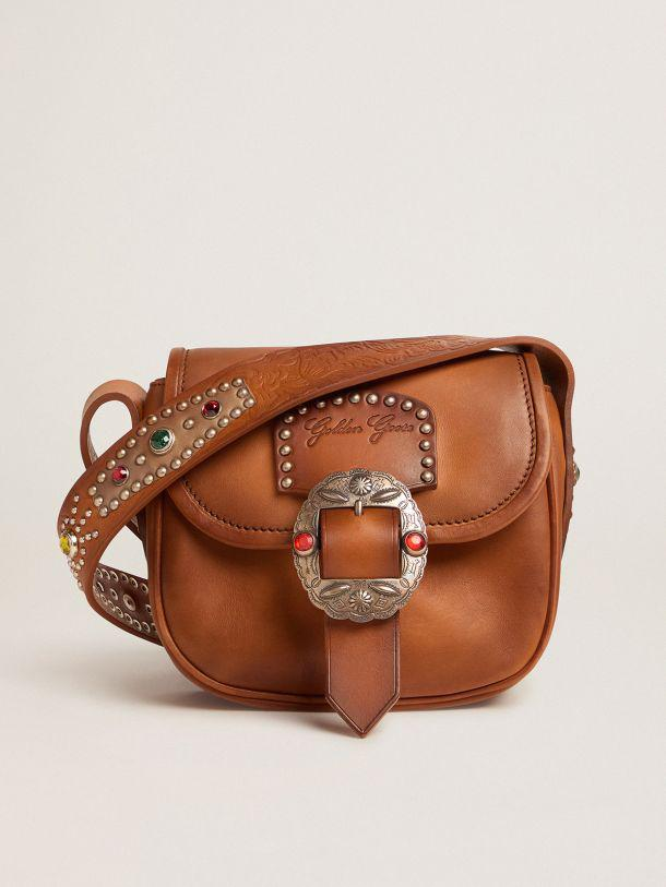 Small Rodeo Bag in leather with decorative studs