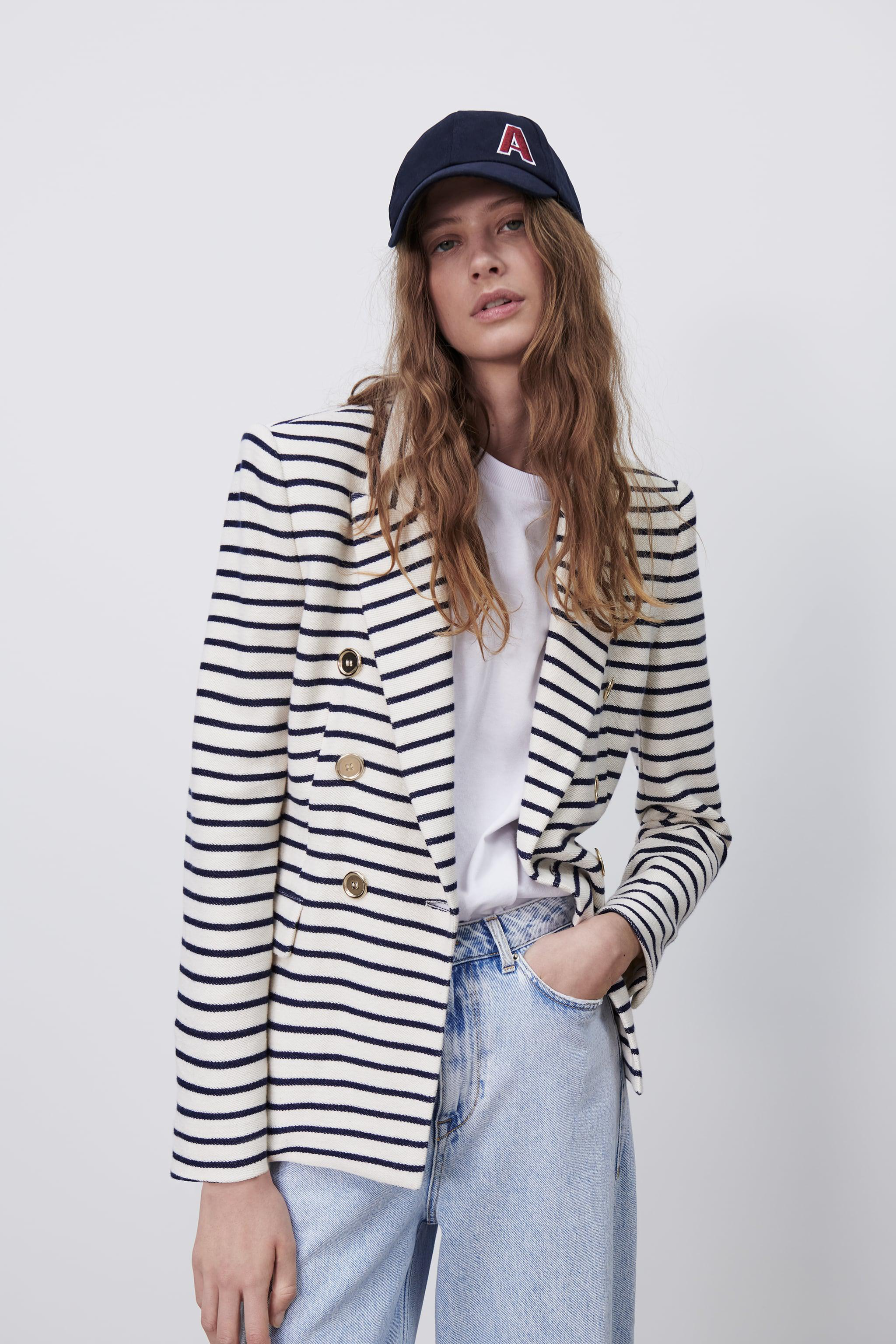 DOUBLE BREASTED STRIPED BLAZER 1