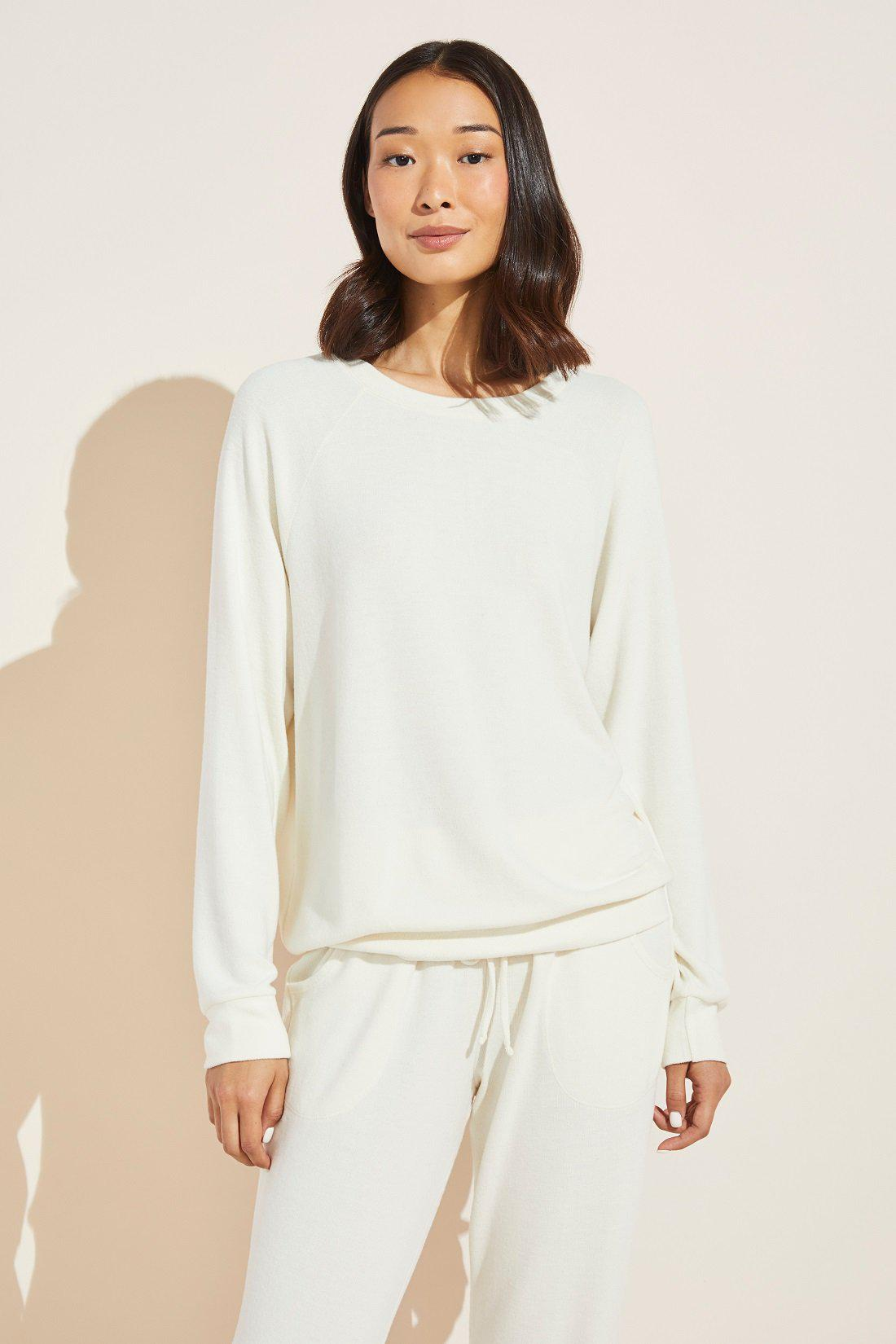 Cozy Time Brushed Modal Top - Bone