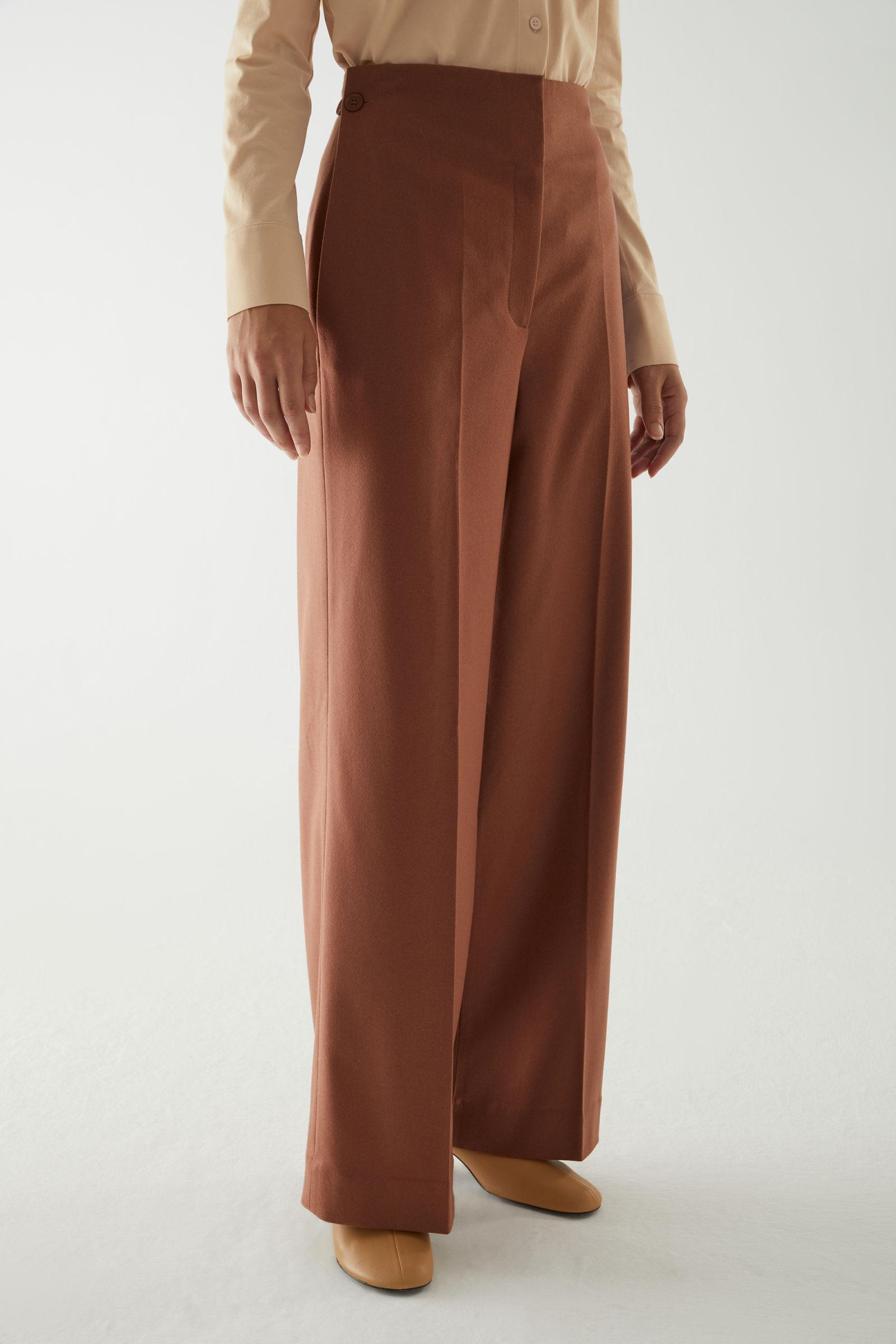 WOOL-CASHMERE TAILORED PANTS 1
