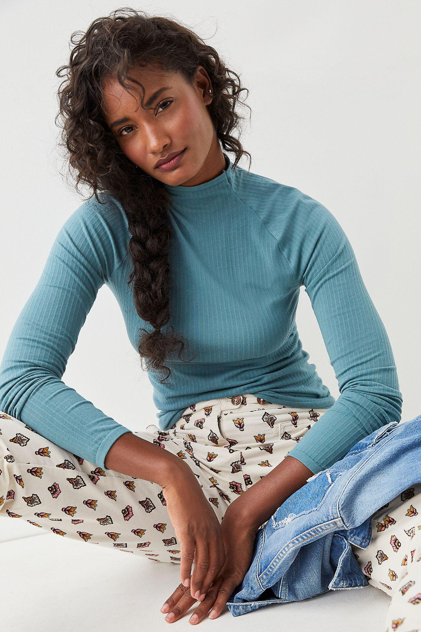Indra Seamless Mock Neck Top