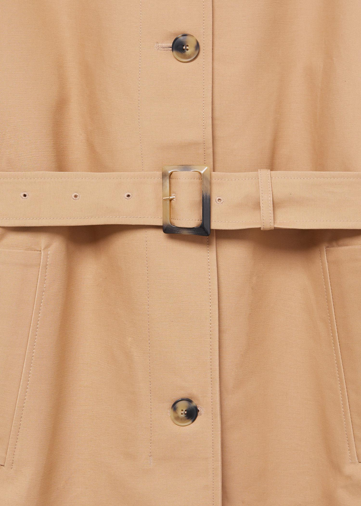 Water-repellent cotton trench 7