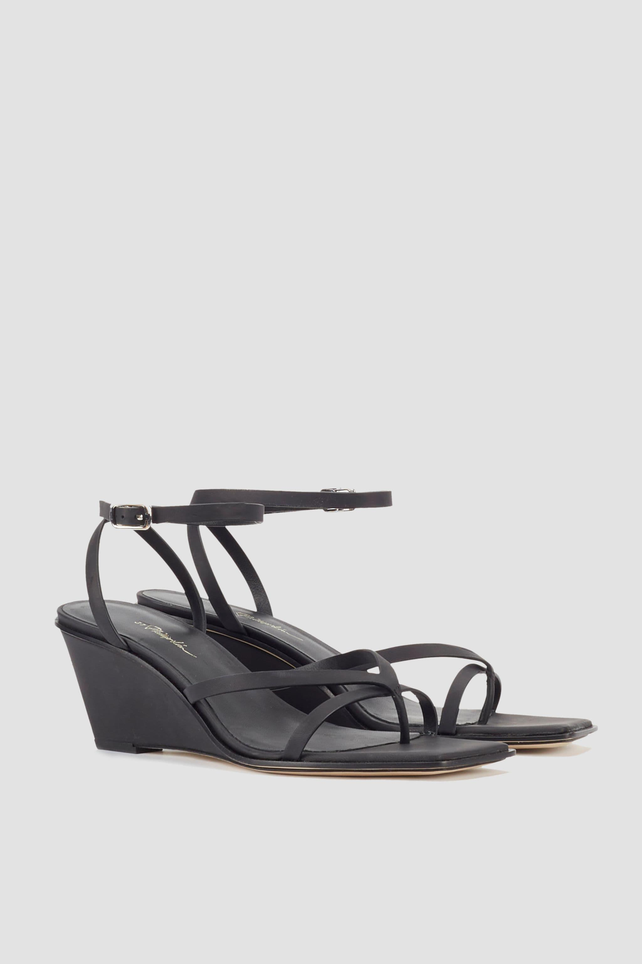 Laura Ankle Wrap Wedge Sandal 1