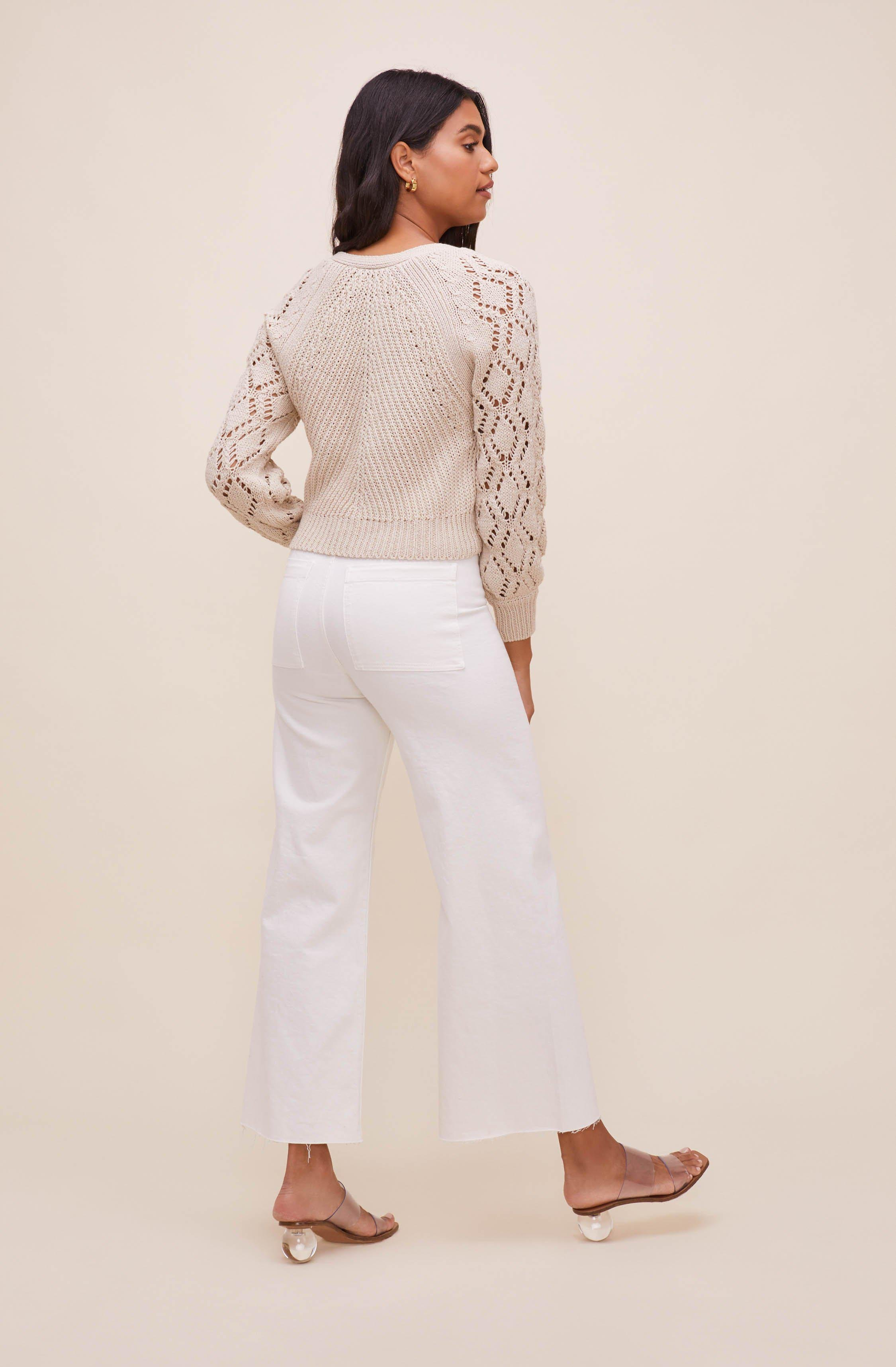 Angelica Pointelle Knit Cardigan 2