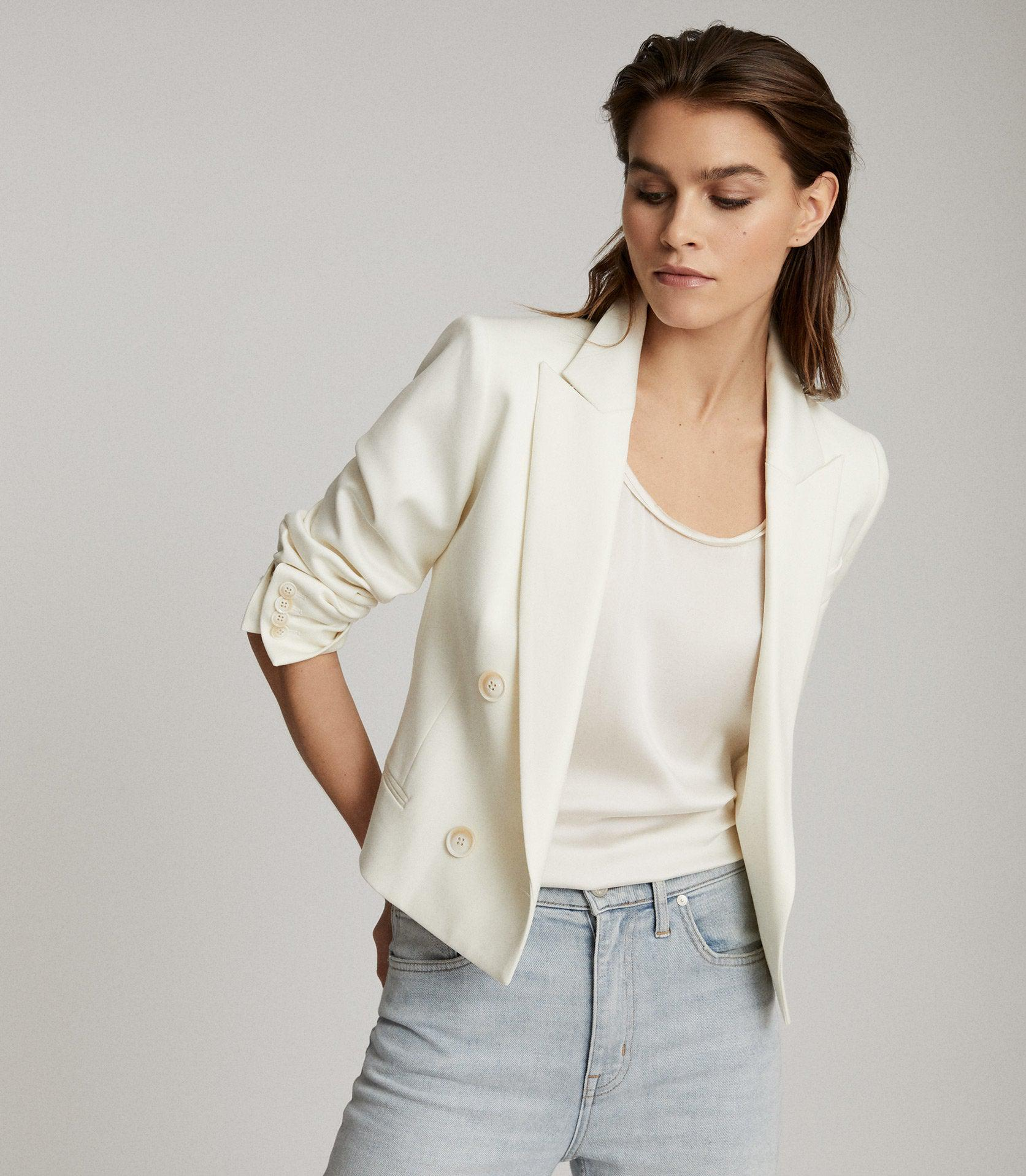 ALEIDA - CROPPED DOUBLE BREASTED BLAZER 1