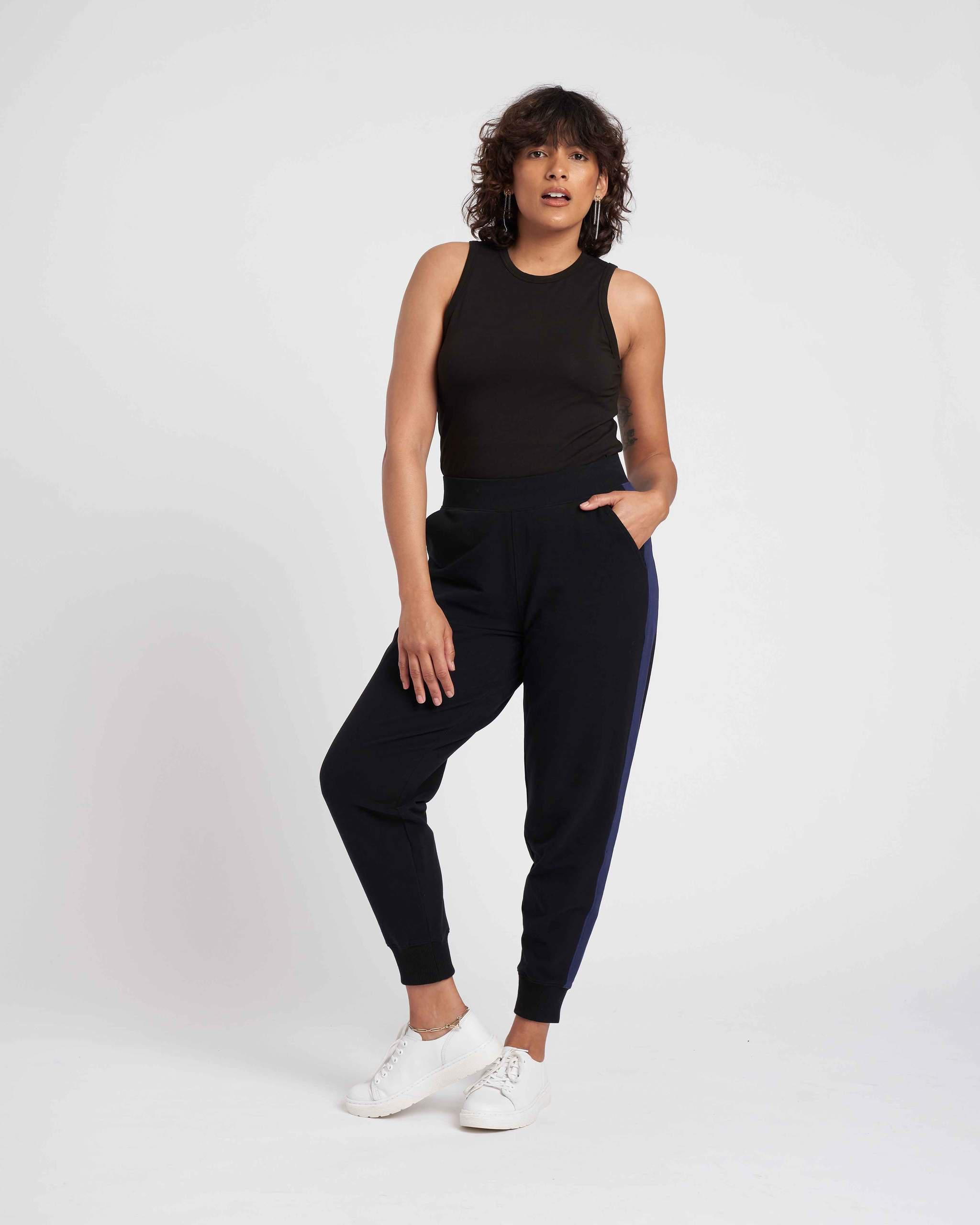 Hollie Brushed Terry Striped Jogger 1