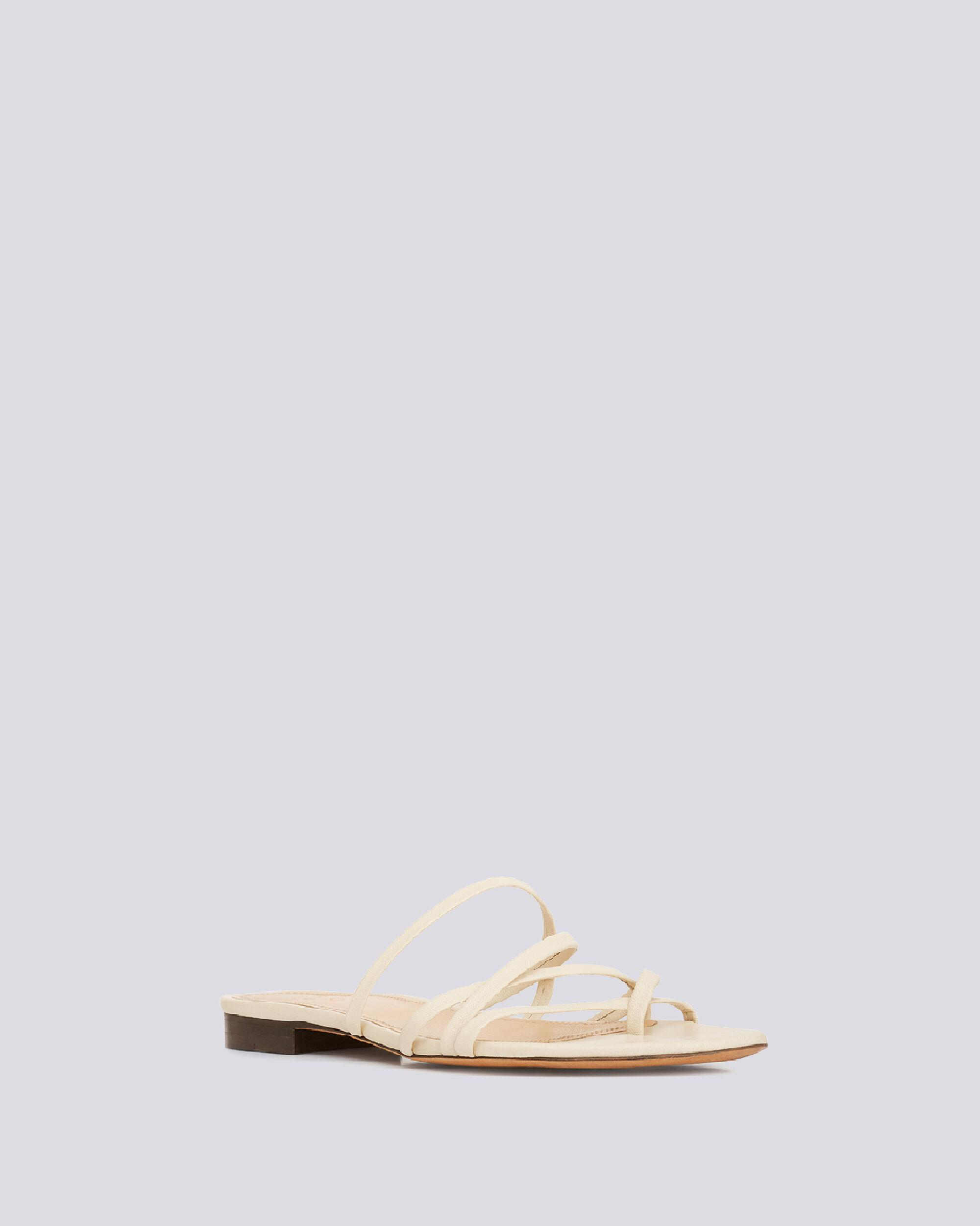 LEV STRAPPY FLAT LEATHER SANDALS 1