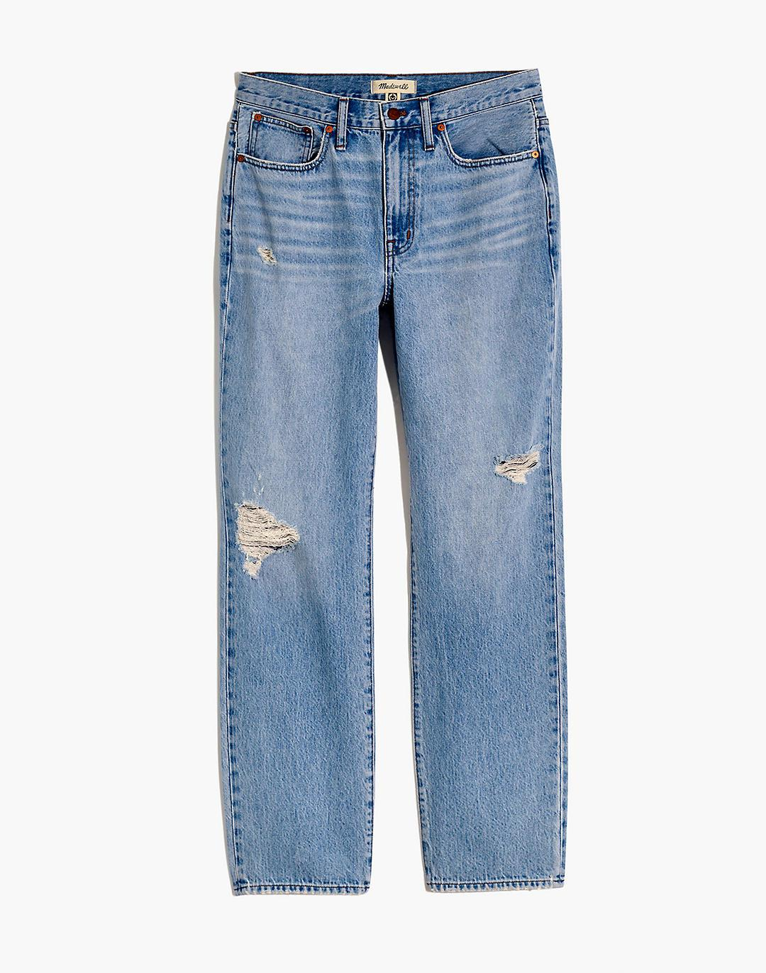 Plus Relaxed Jeans in Cresthaven Wash: Ripped Edition 4