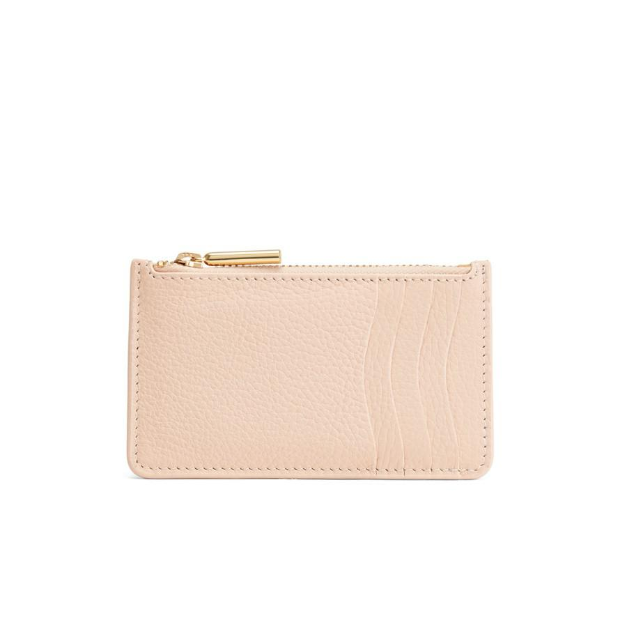 Women's Zip Cardholder in Blush Pink | Pebbled Leather by Cuyana