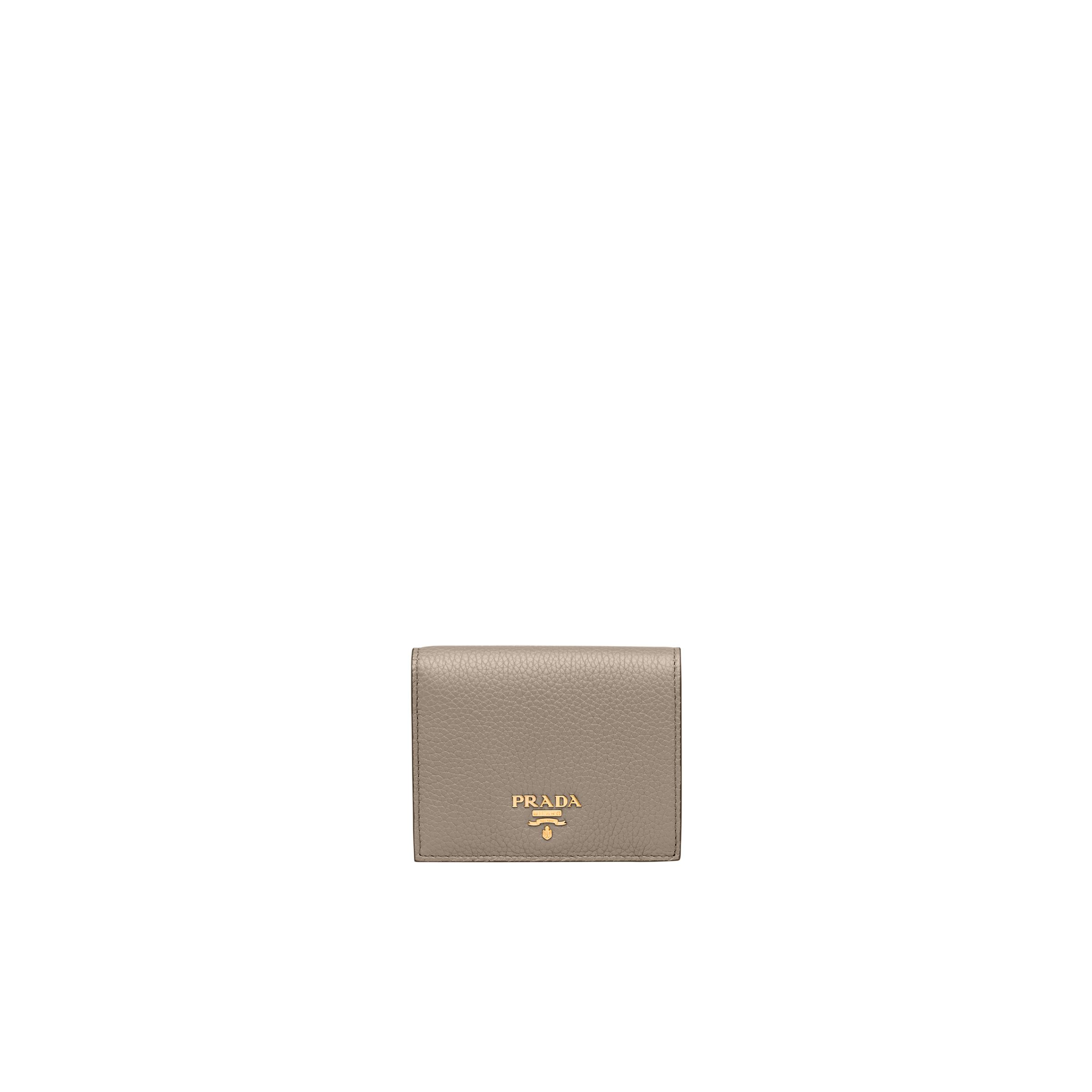 Small Leather Wallet Women Clay/powder