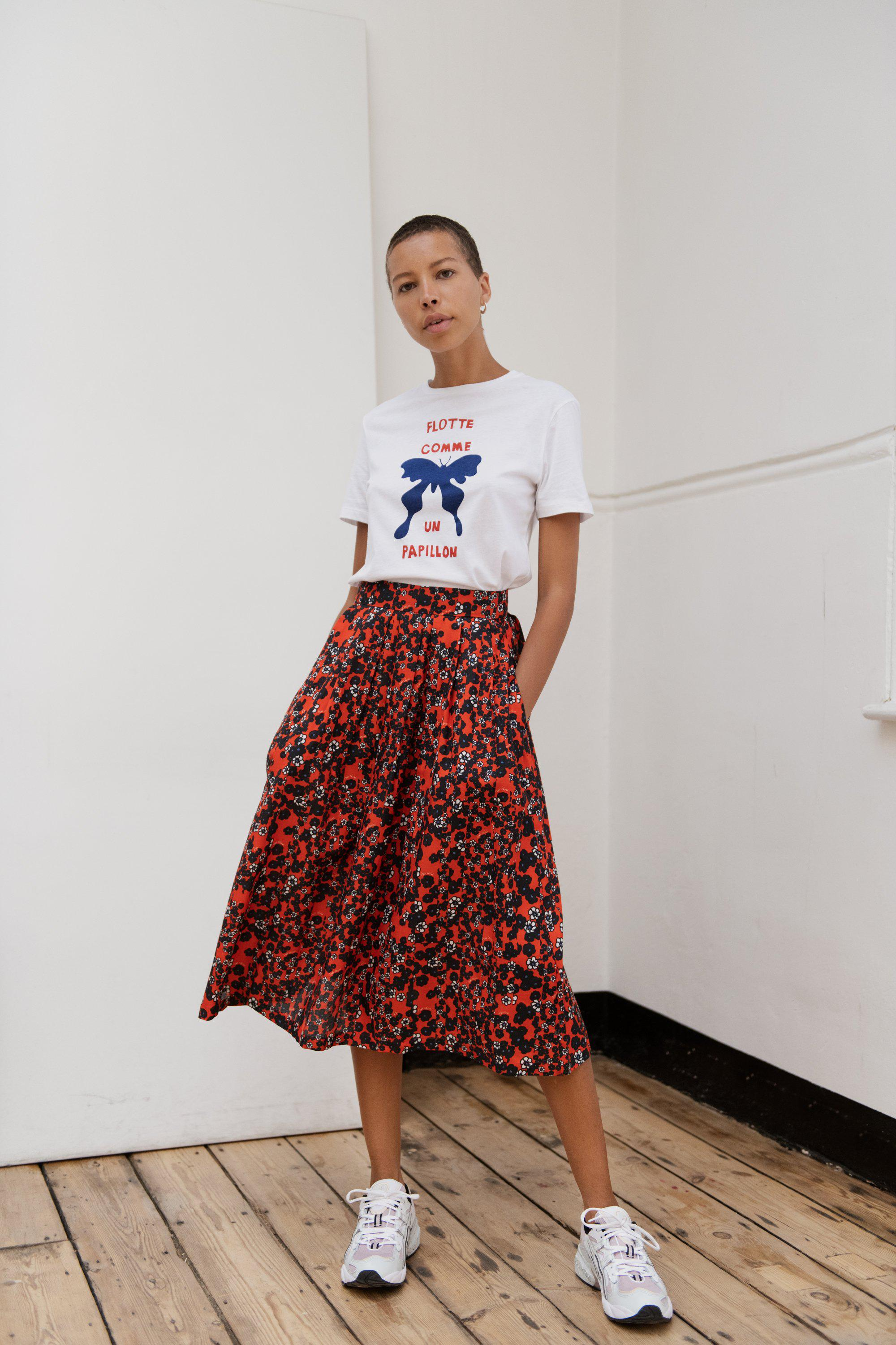 Ditsy Red Amelie Skirt