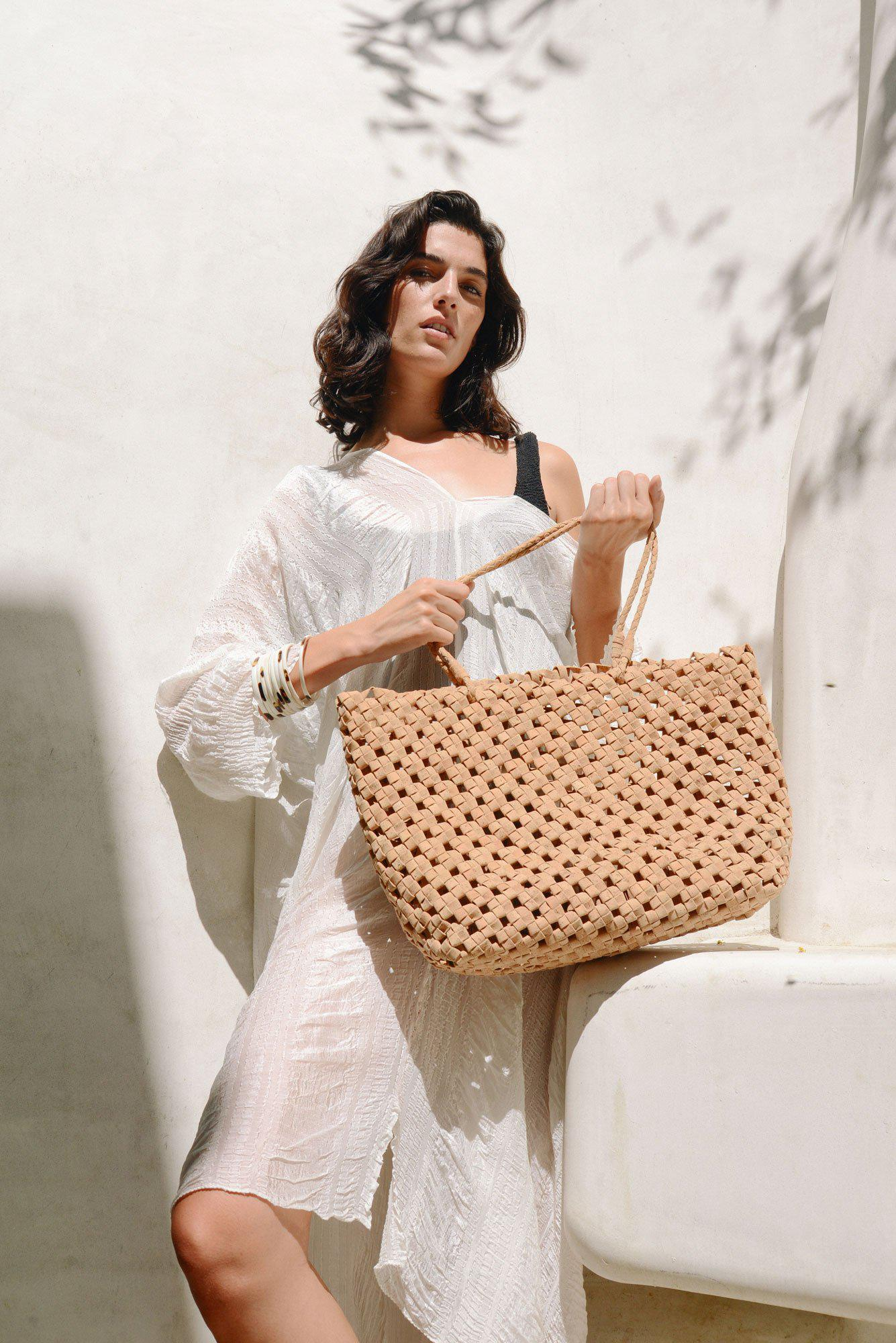 Vegan Cork Knotted Tote 7