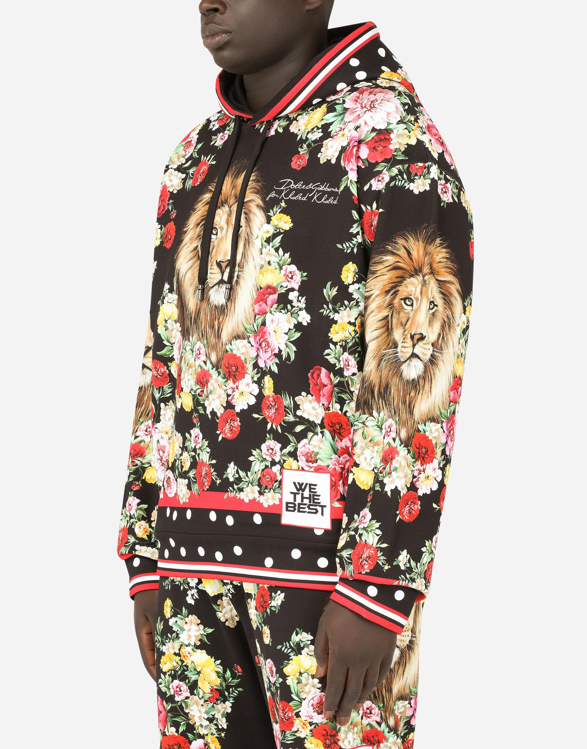 Hoodie with lion mix print 3
