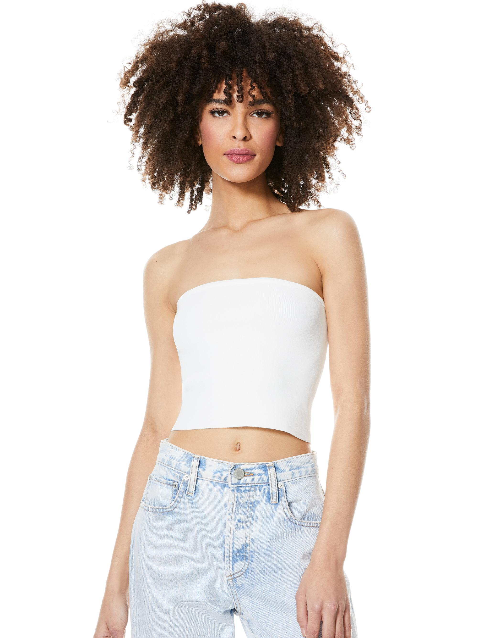 ALISON CROPPED TUBE TOP