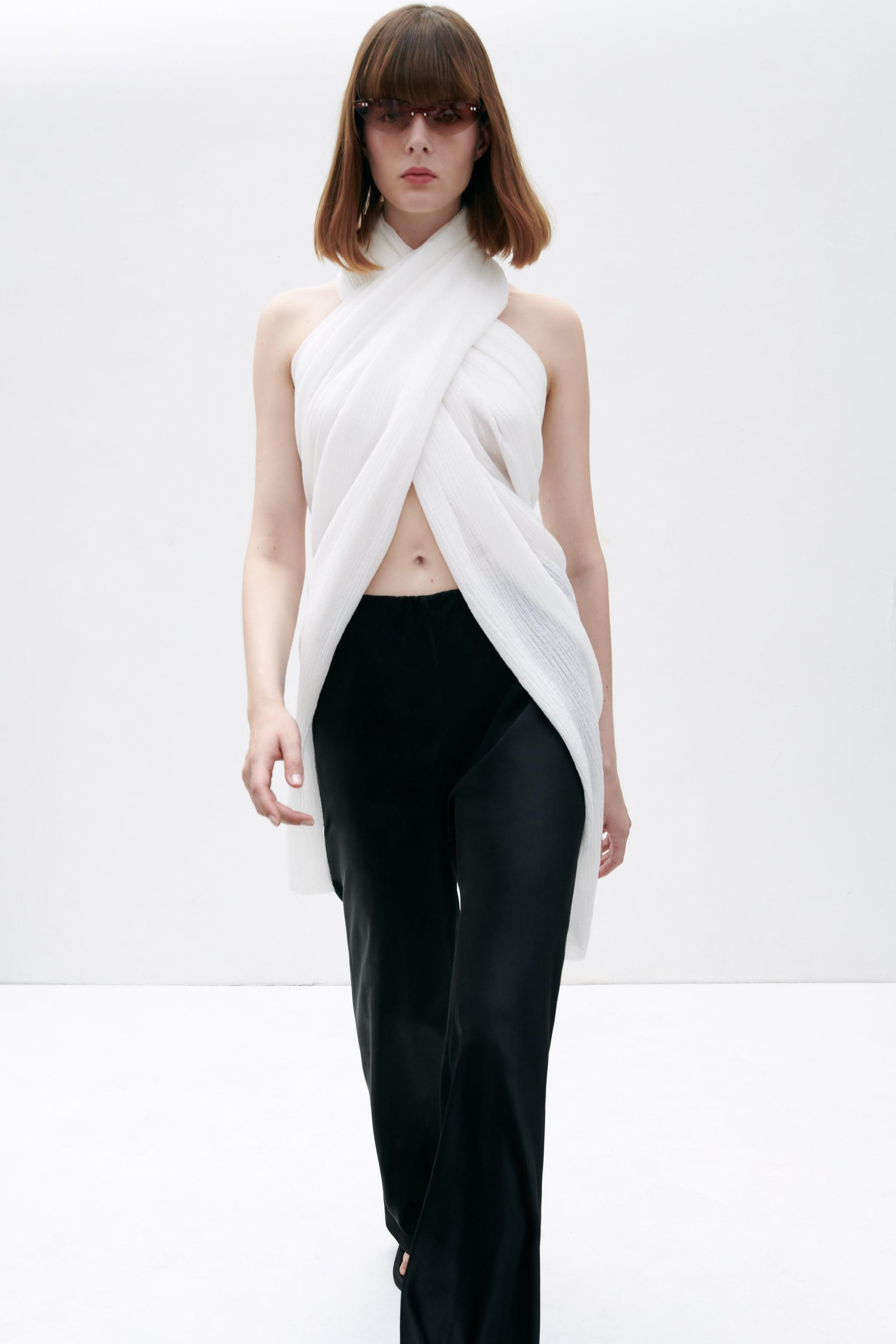 FLARED SATIN EFFECT PANTS 2