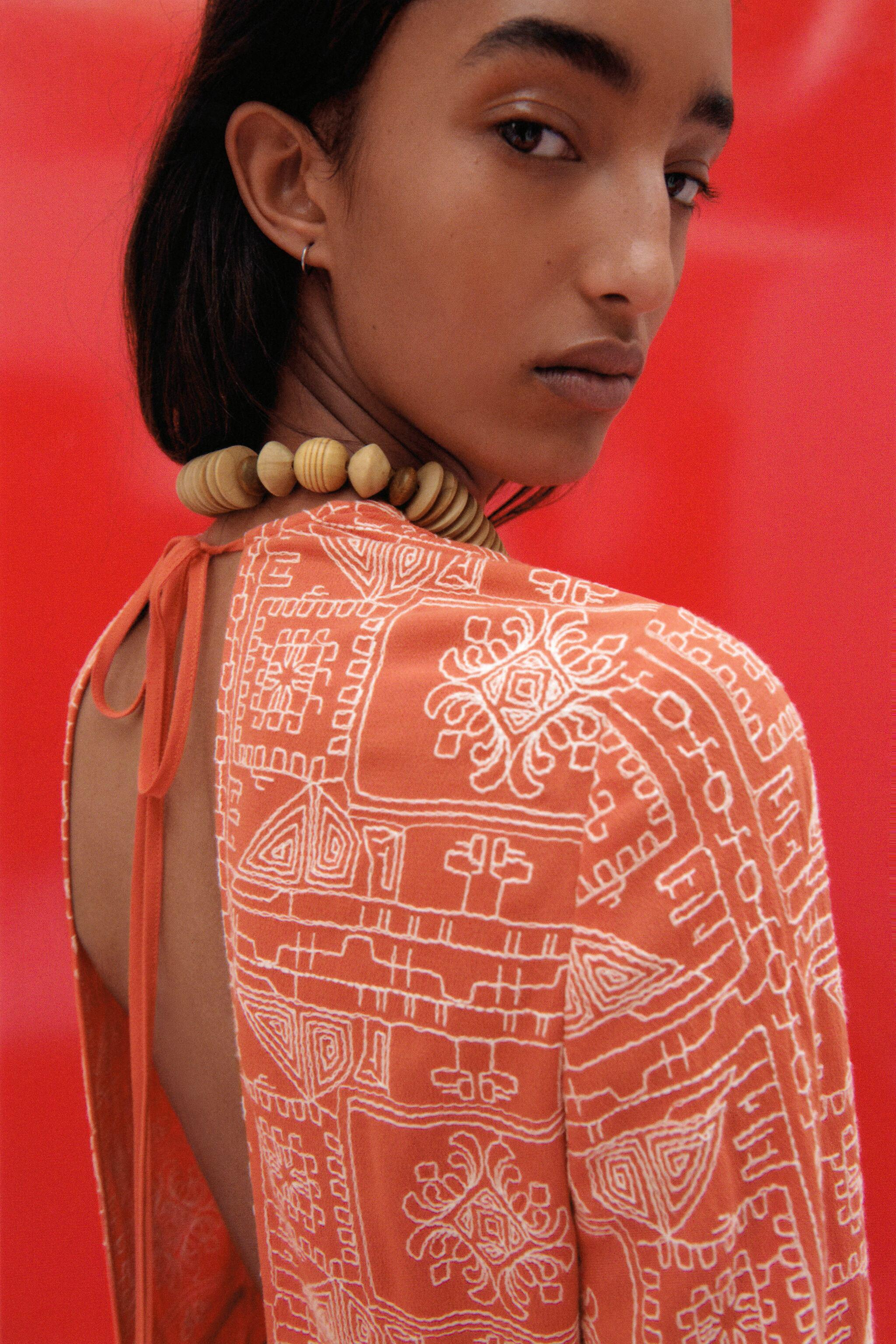 LONG EMBROIDERED DRESS 1