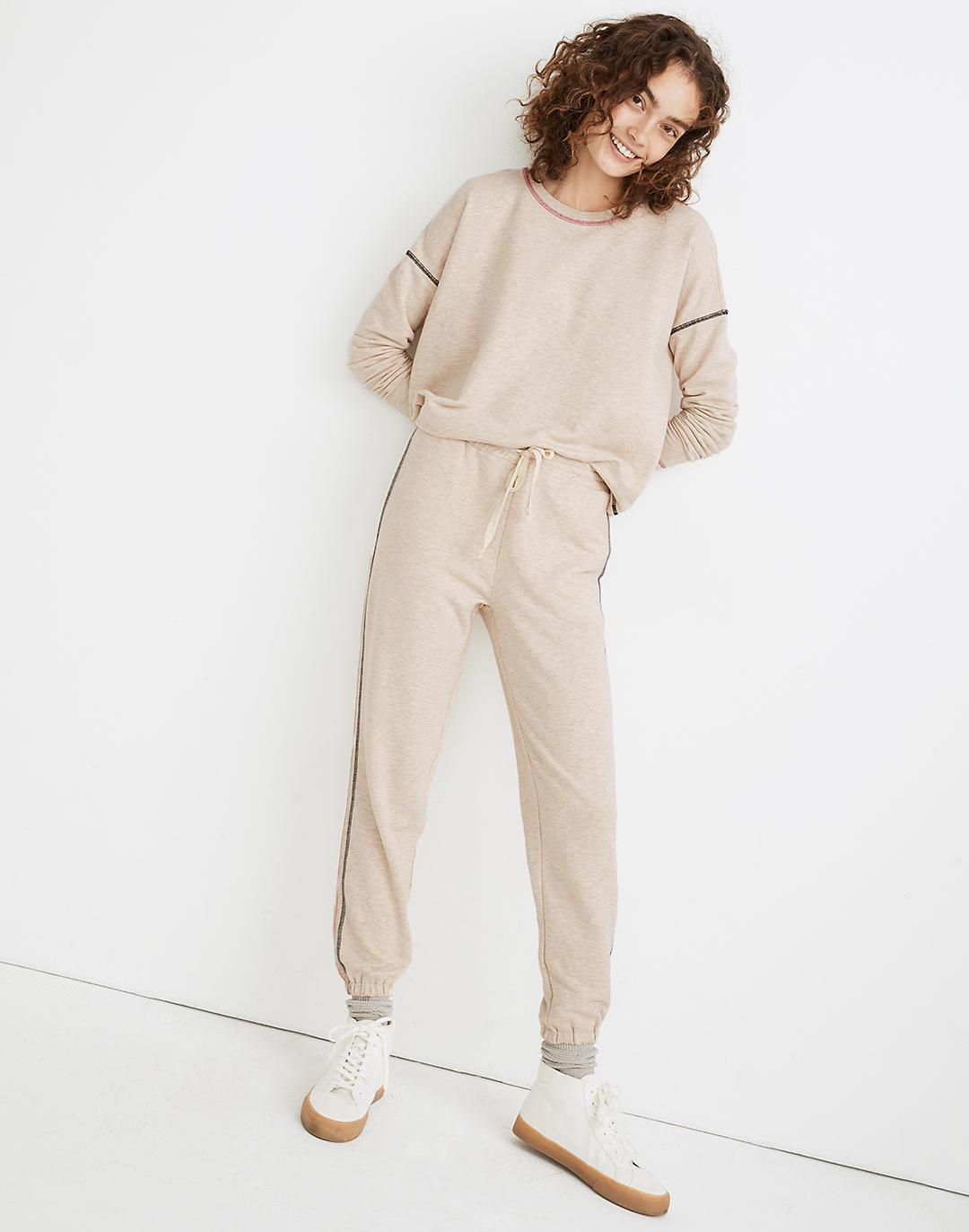 MWL Superbrushed Contrast-Stitched Easygoing Sweatpants 1