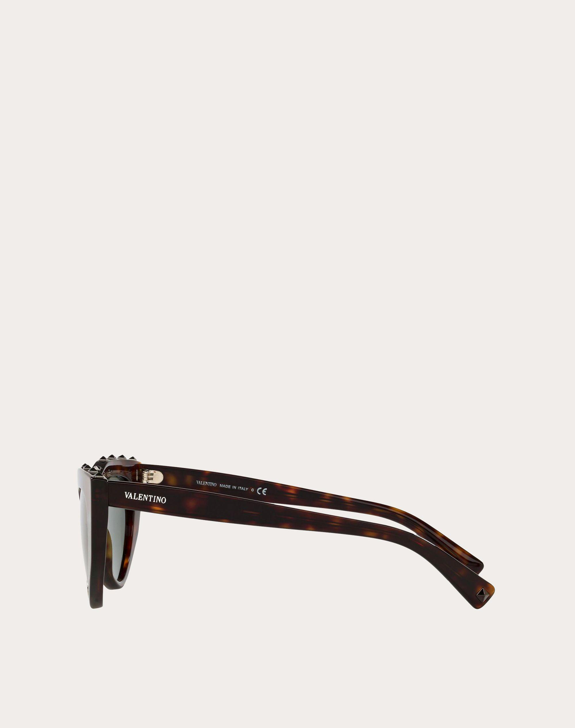 CAT-EYE ACETATE SUNGLASSES WITH STUDS 2