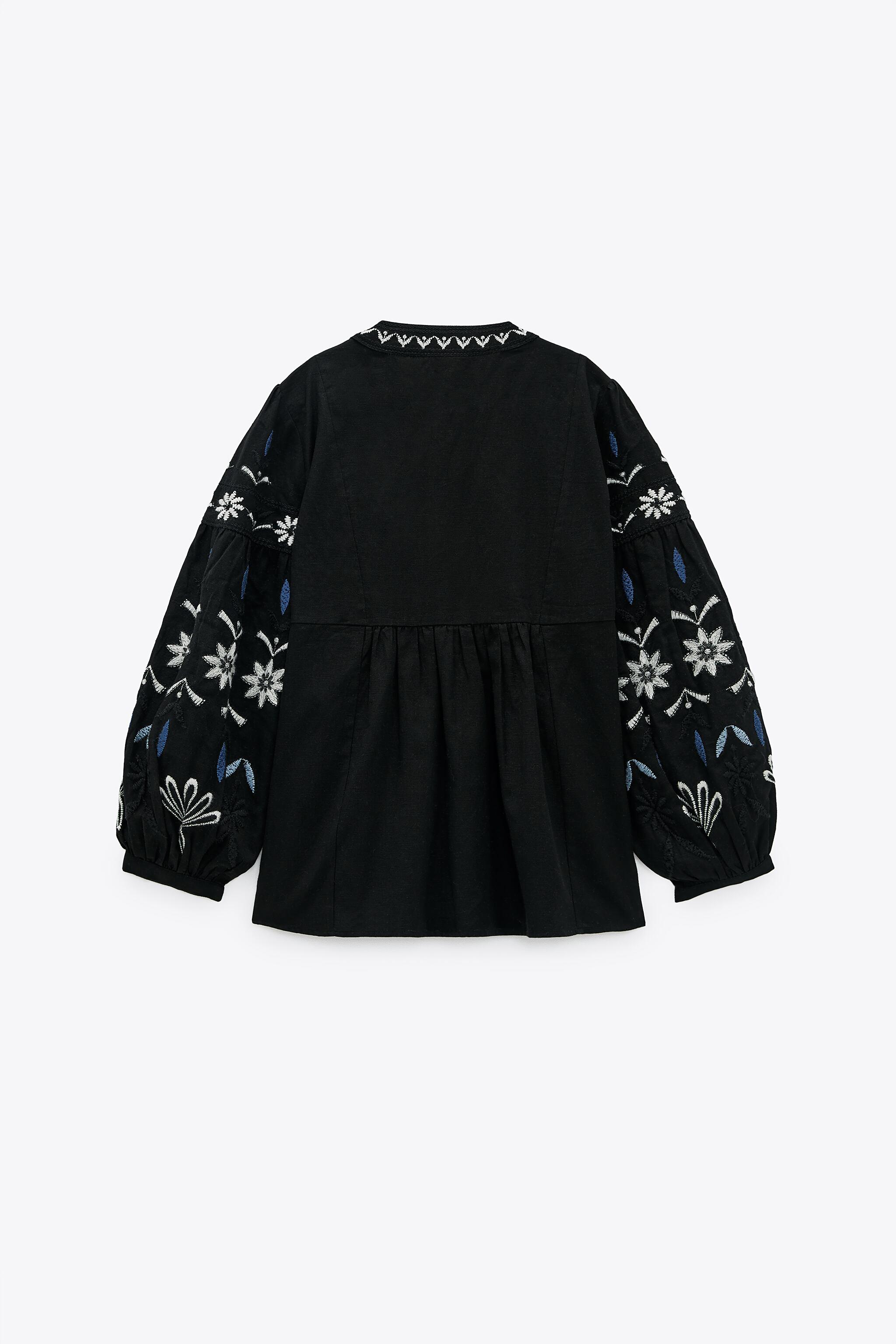 EMBROIDERED COTTON OVERSHIRT 6
