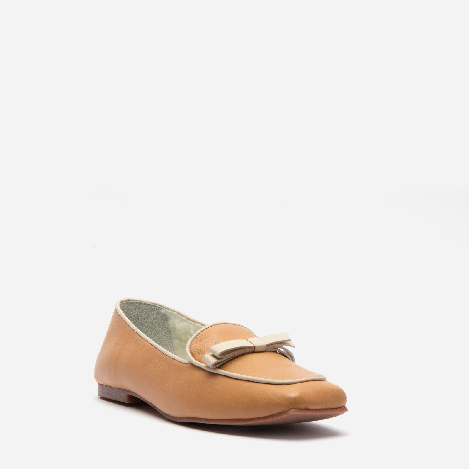 Suzanne Cozy Loafer Nappa Faux Shearling Camel 2