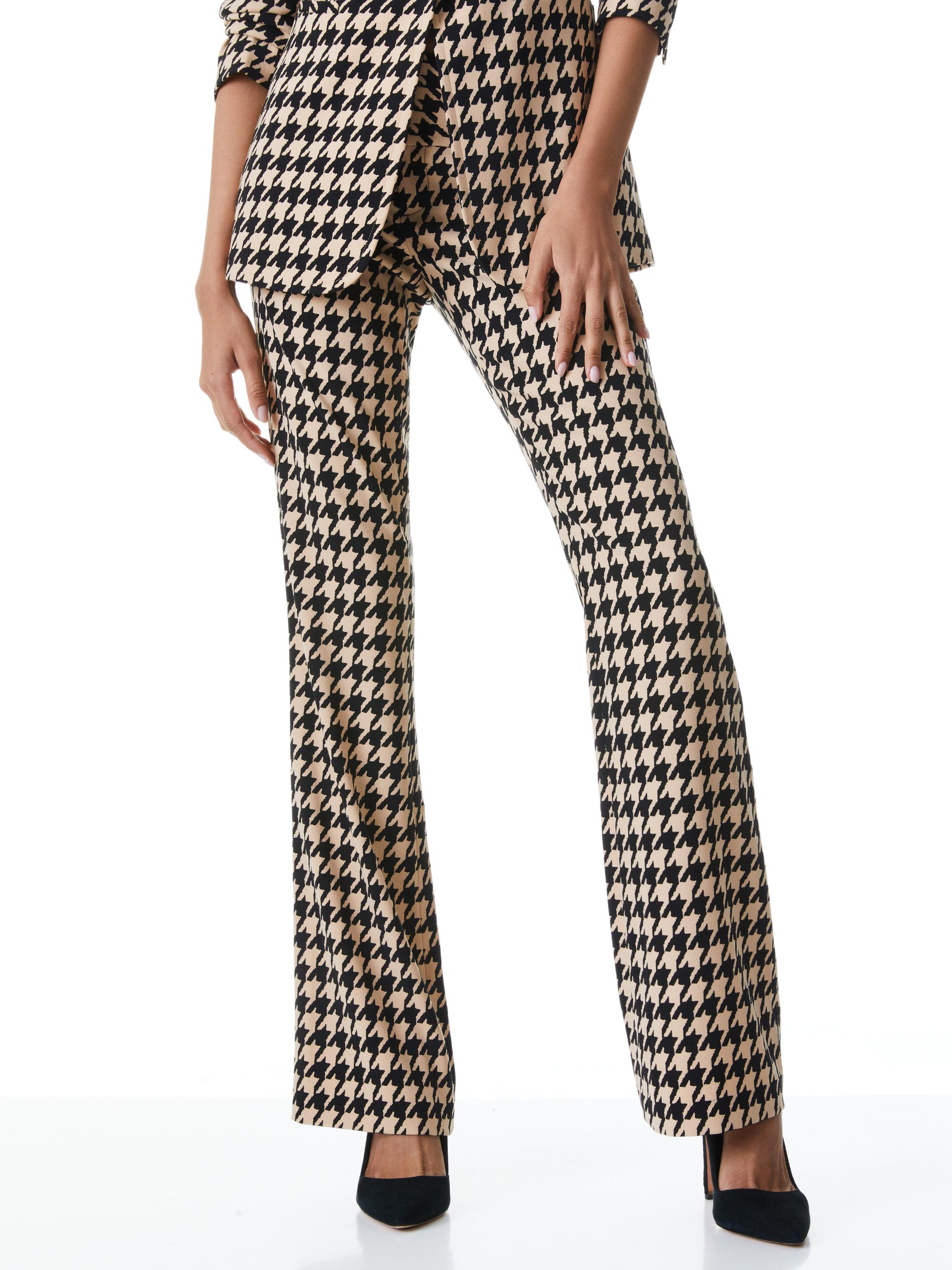 OLIVIA HOUNDSTOOTH BOOTCUT PANT