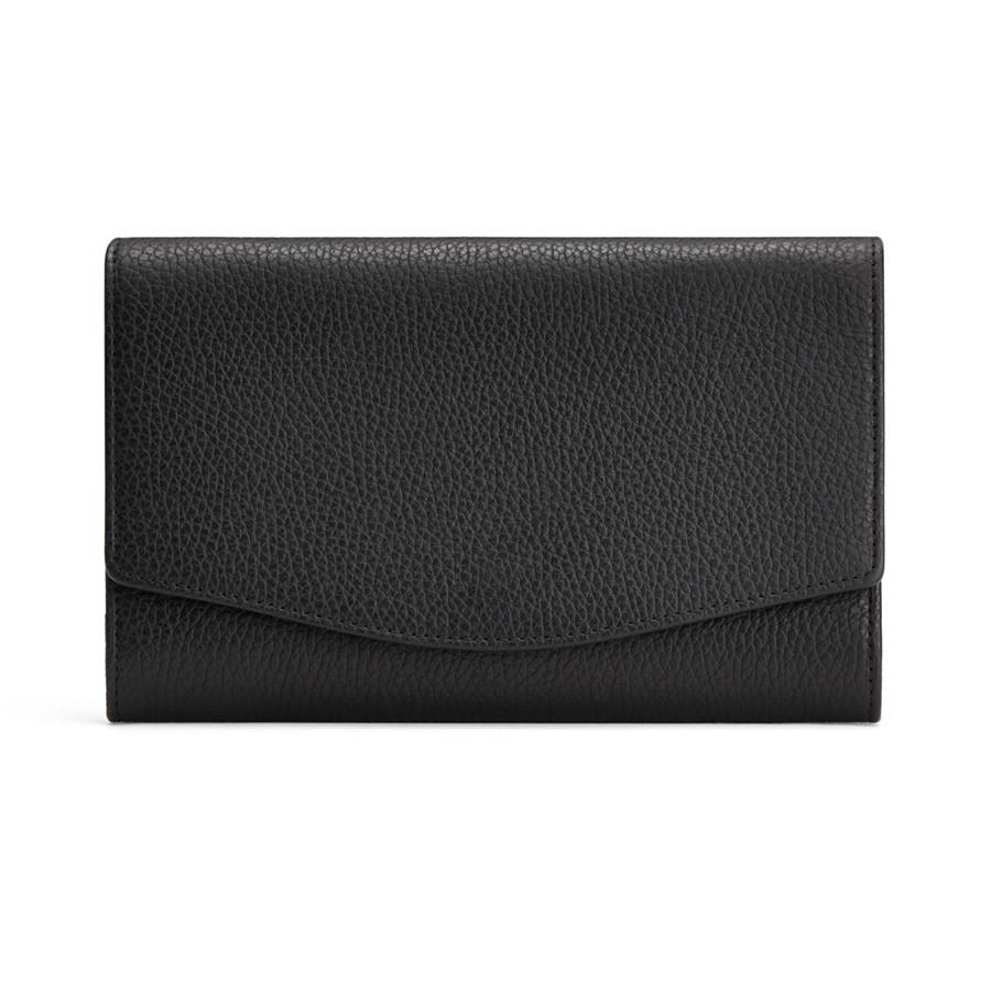 Women's Convertible Clutch Bag in Black | Pebbled Leather by Cuyana