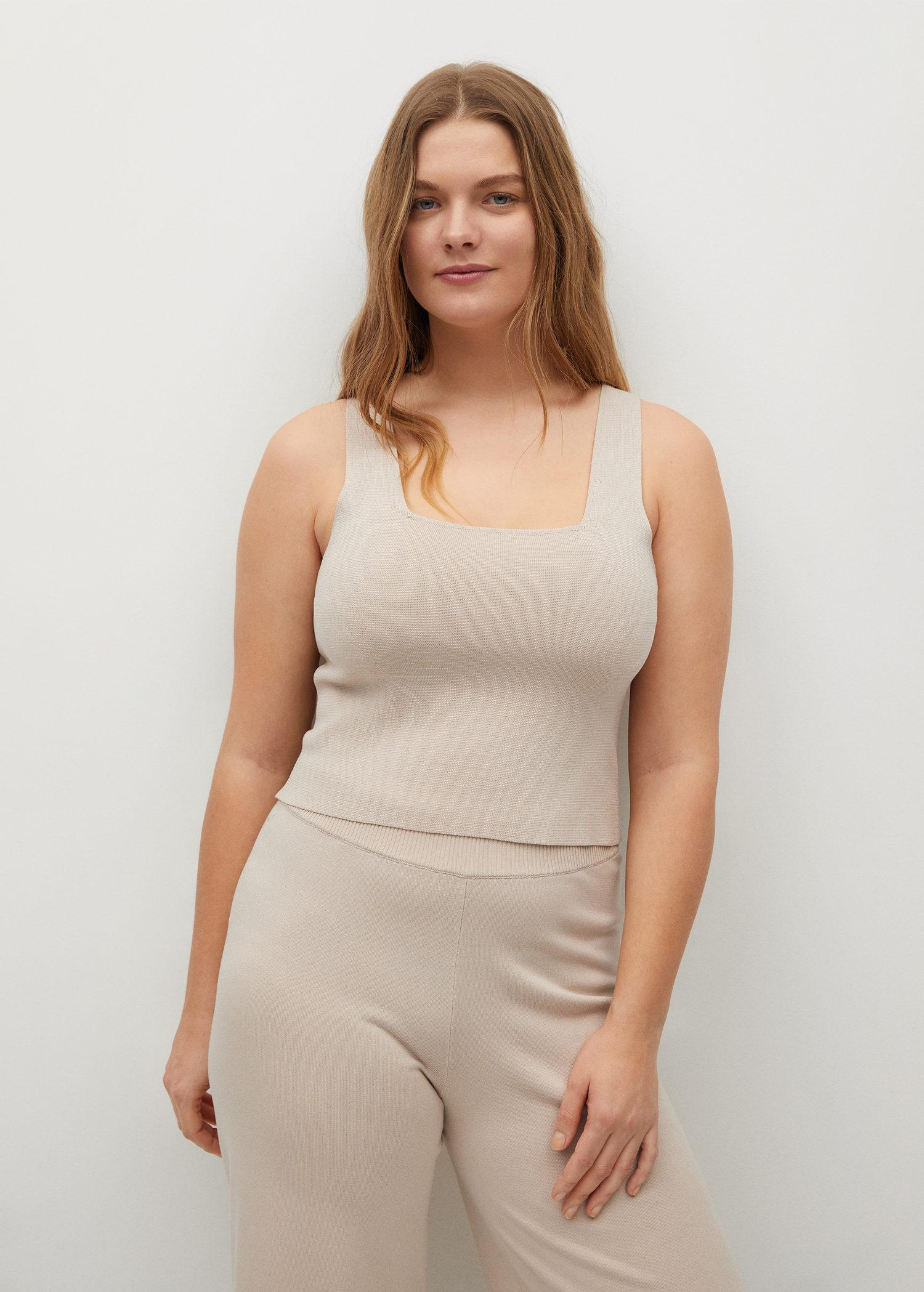 Knitted top with wide straps 1