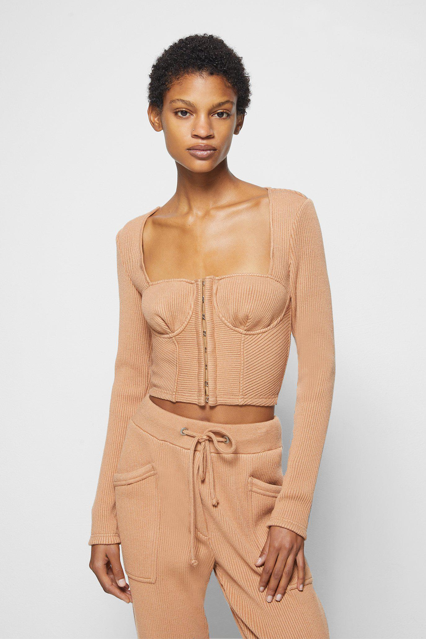 Elle Recycled Knit Bustier Top