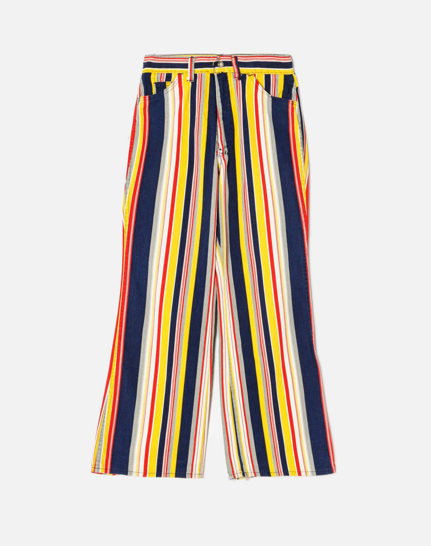 60s/70s High Rise Flare Striped Levi's For Gals Size 24 - #209