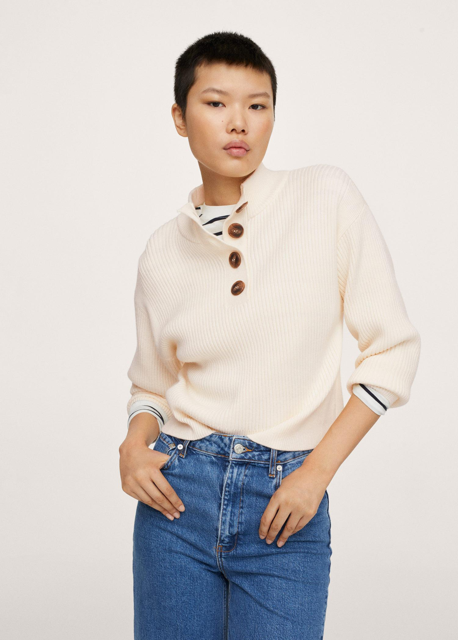 Ribbed knit sweater